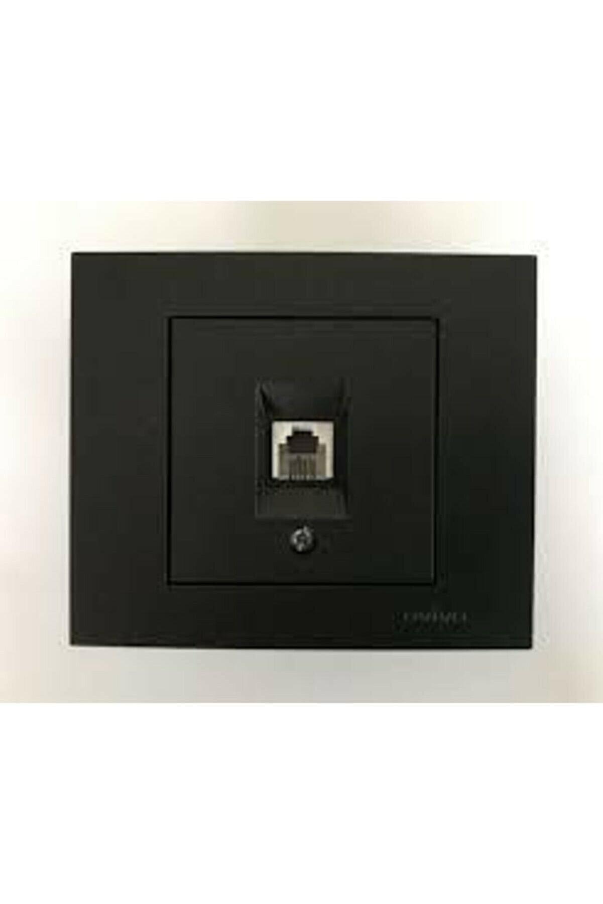OVİVO Grano Siyah Numeris Telefon Prizi Cat3 Mekanizma  Çerçeve