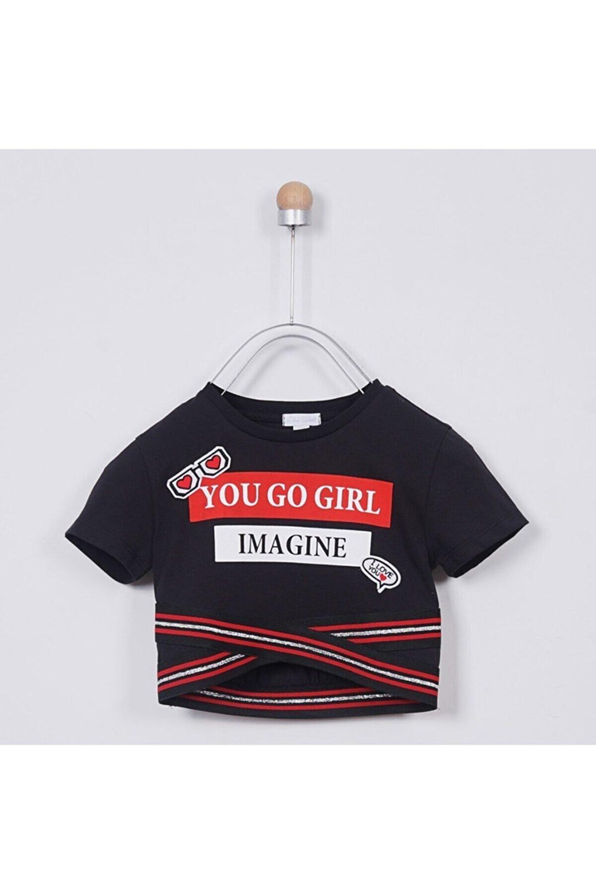 Panço T-shirt Kız Çocuk Siyah