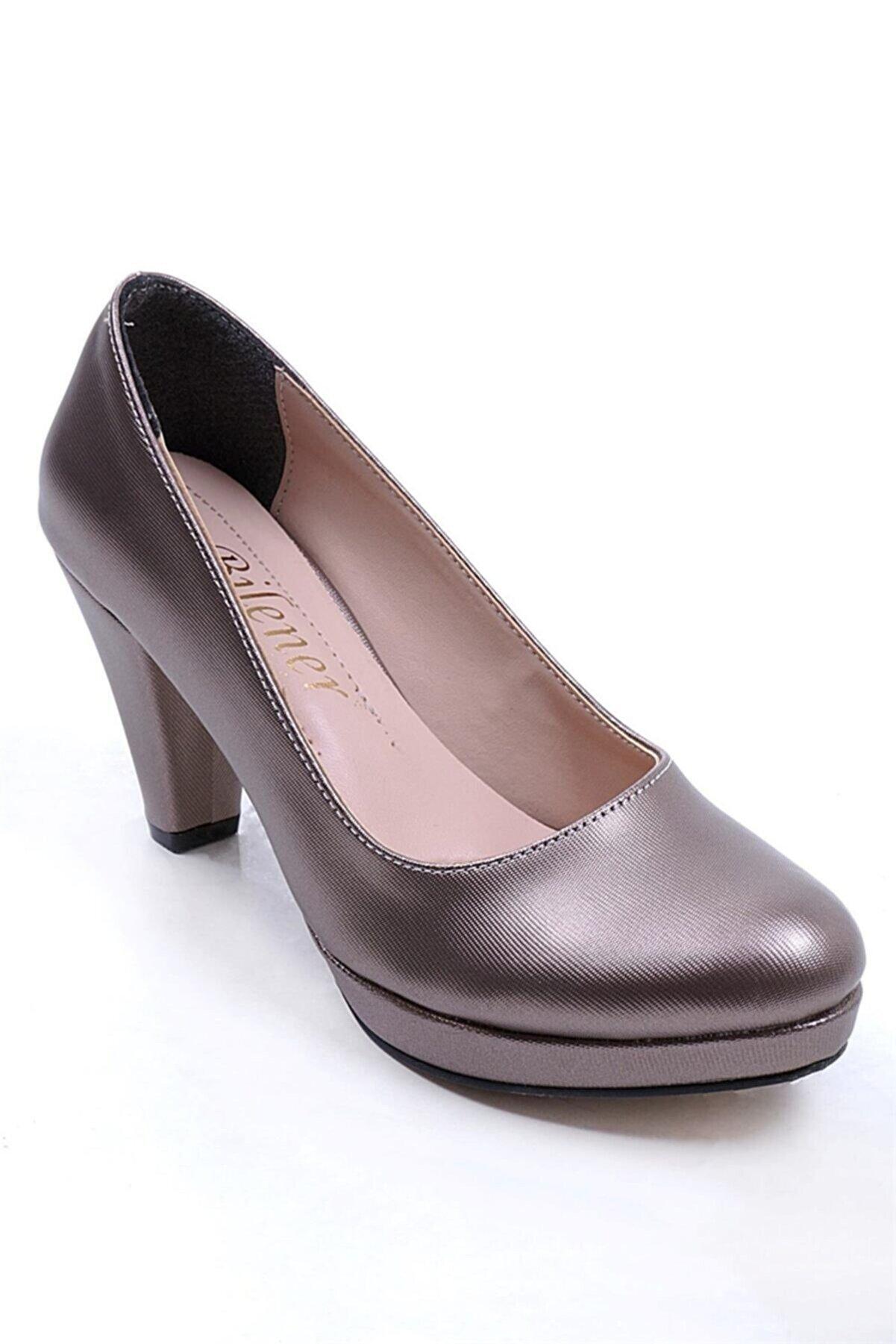 Ustalar Ayakkabı Çanta Kadın Platin Topuklu Ayakkabı 360.102