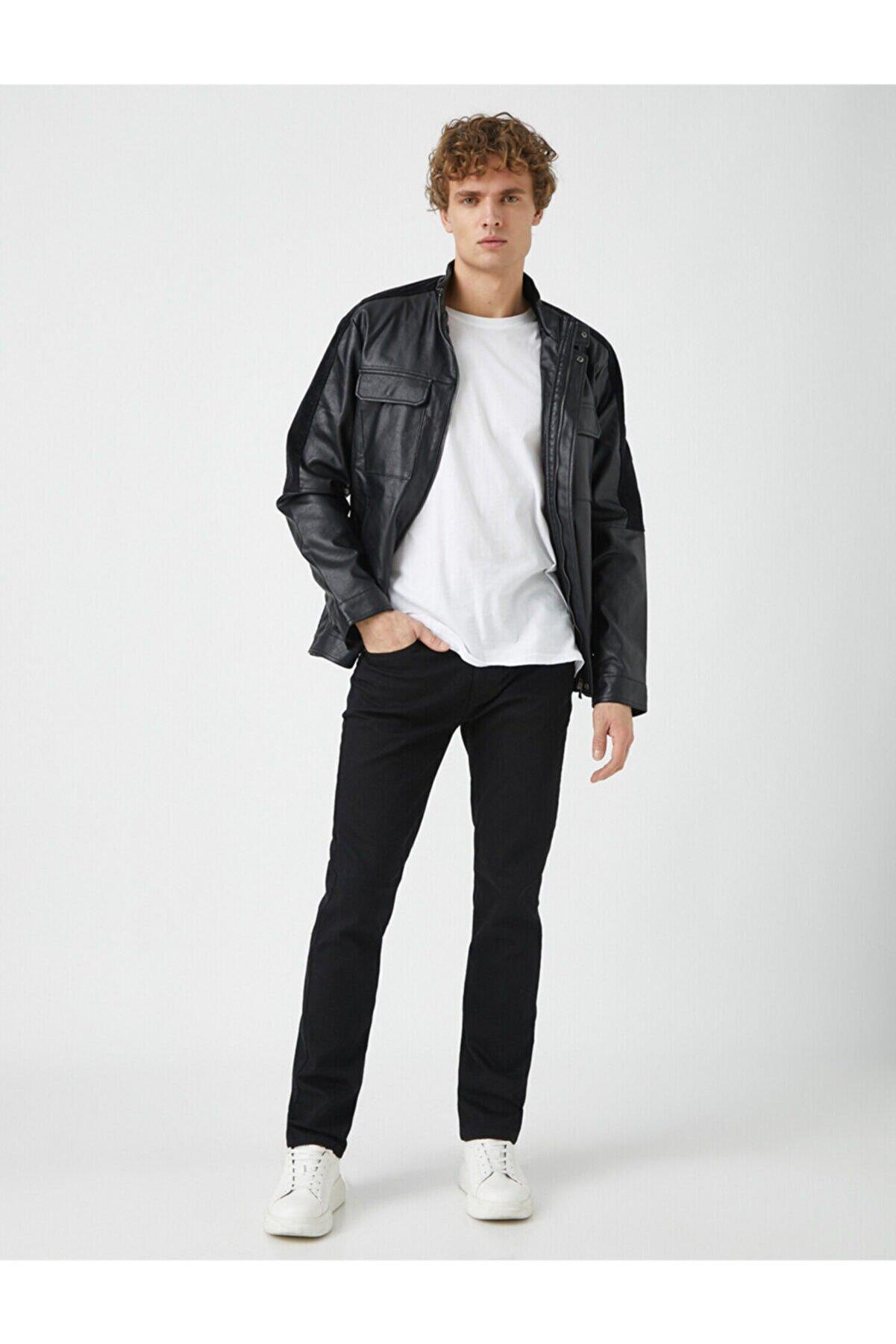 Koton Siyah Erkek Jeans 1KAM43004LD