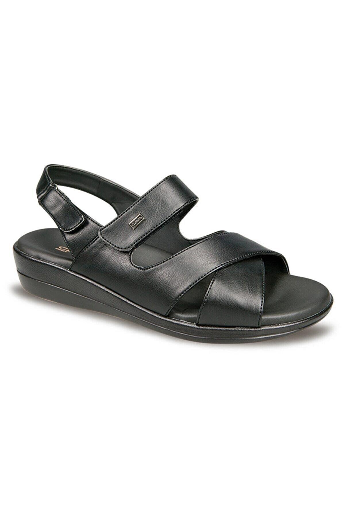Ceyo Bayan 9863-12 Kadın Siyah Sandalet