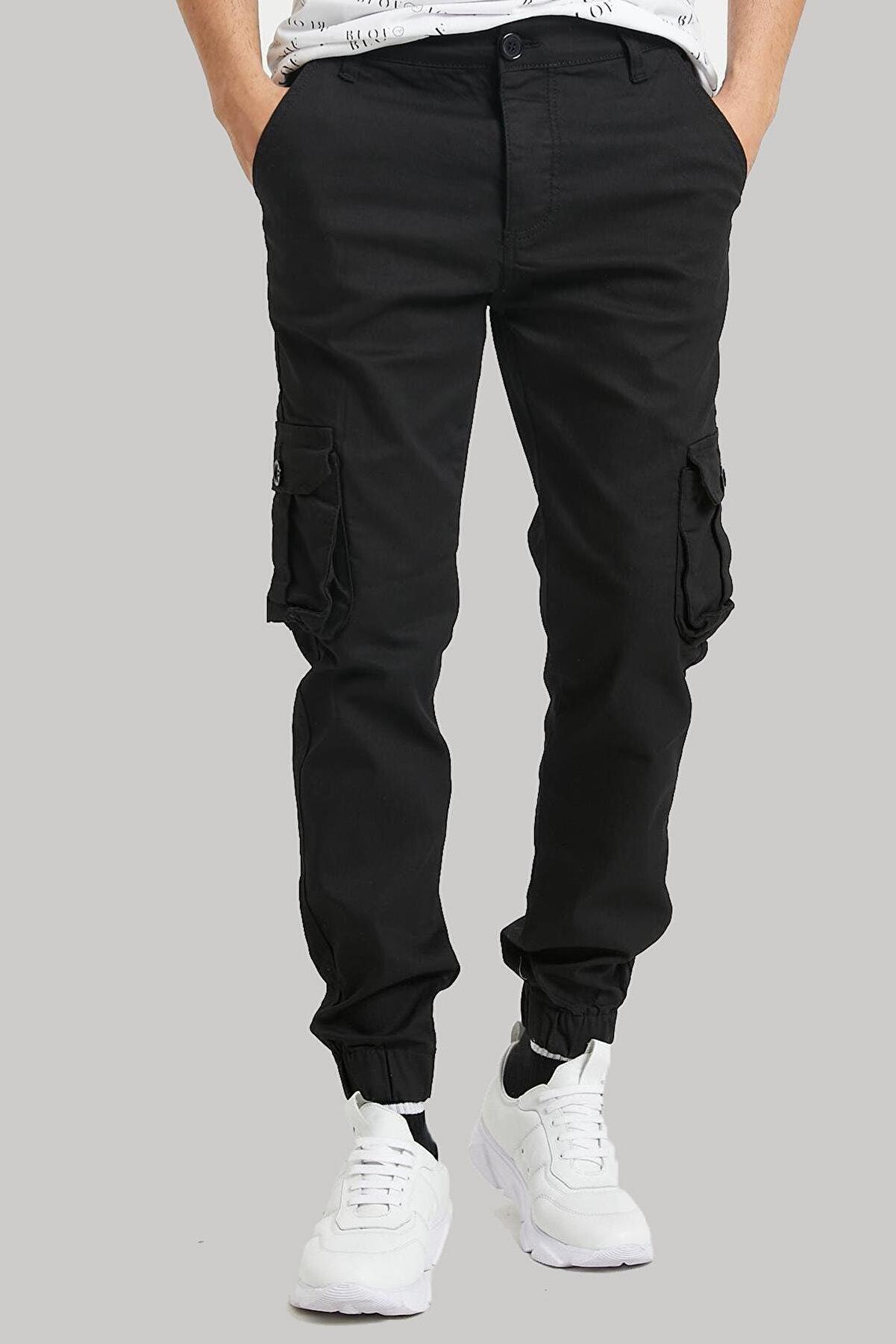 bombe Erkek Kargo Pantolon Siyah