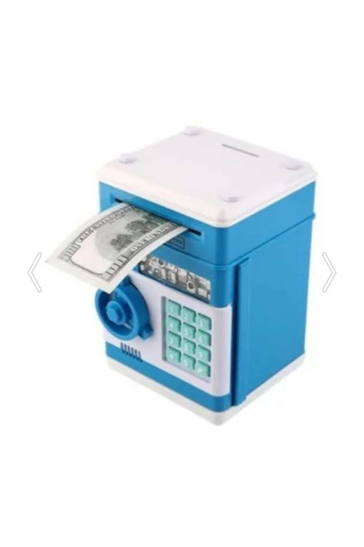 ELBA Şifreli Otomatik Kağıt Para Alan Atm Kasa Kumbara - Mavi