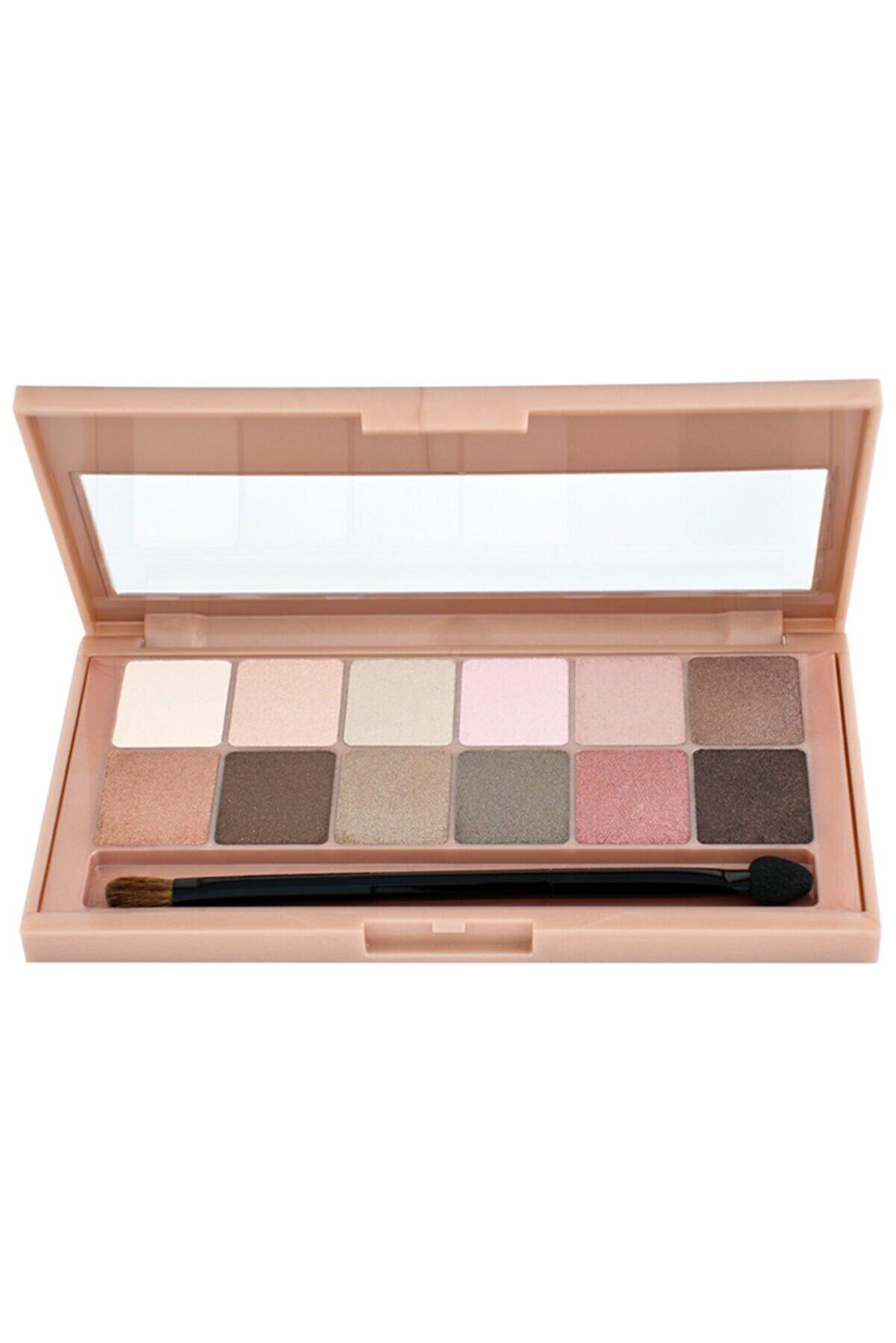Maybelline New York Maybellıne The Blushed Nudes Eyeshadow Palette Far Paleti 12 Li