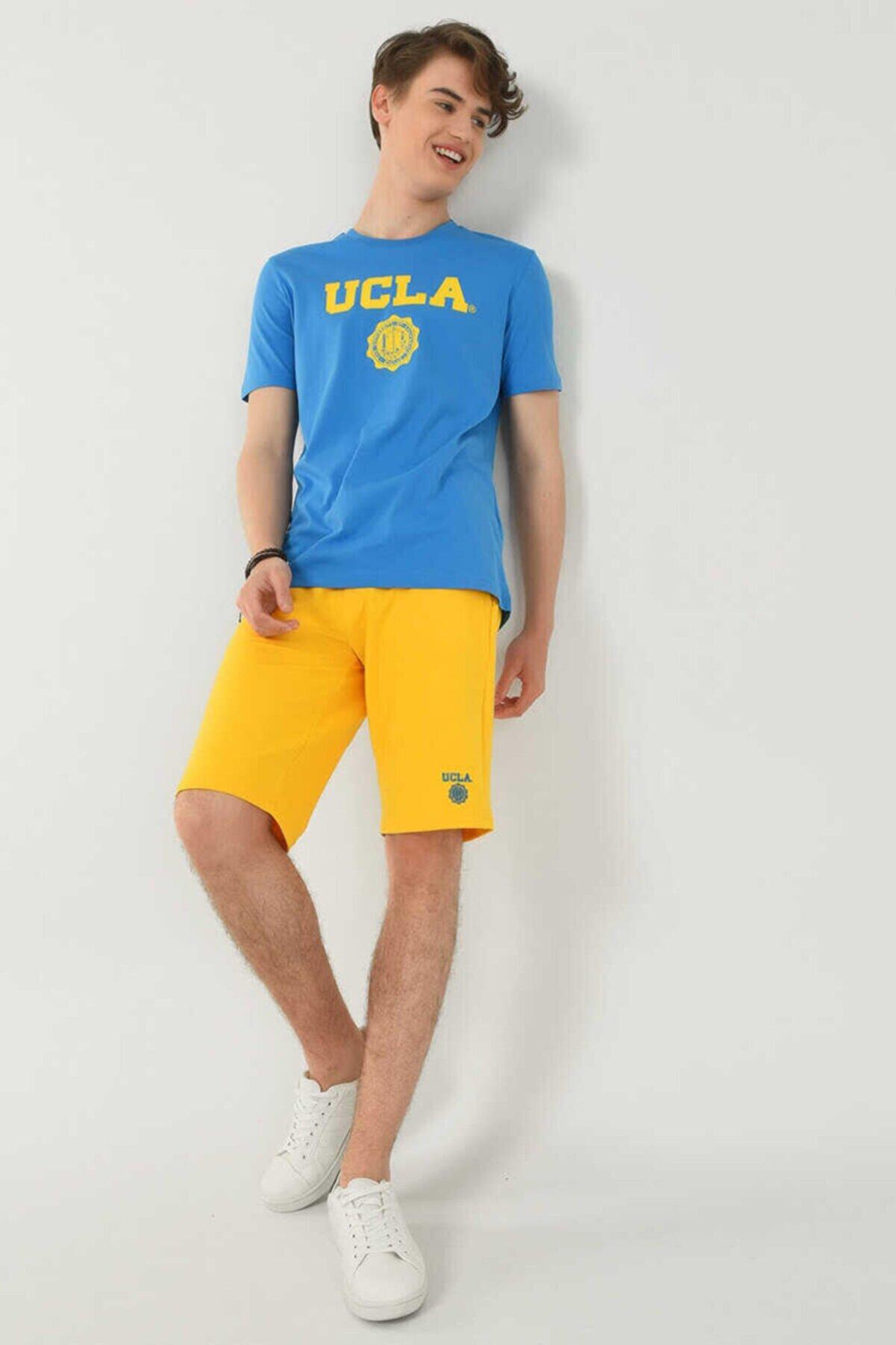Ucla Gayley Mavi Bisiklet Yaka Erkek T-shirt