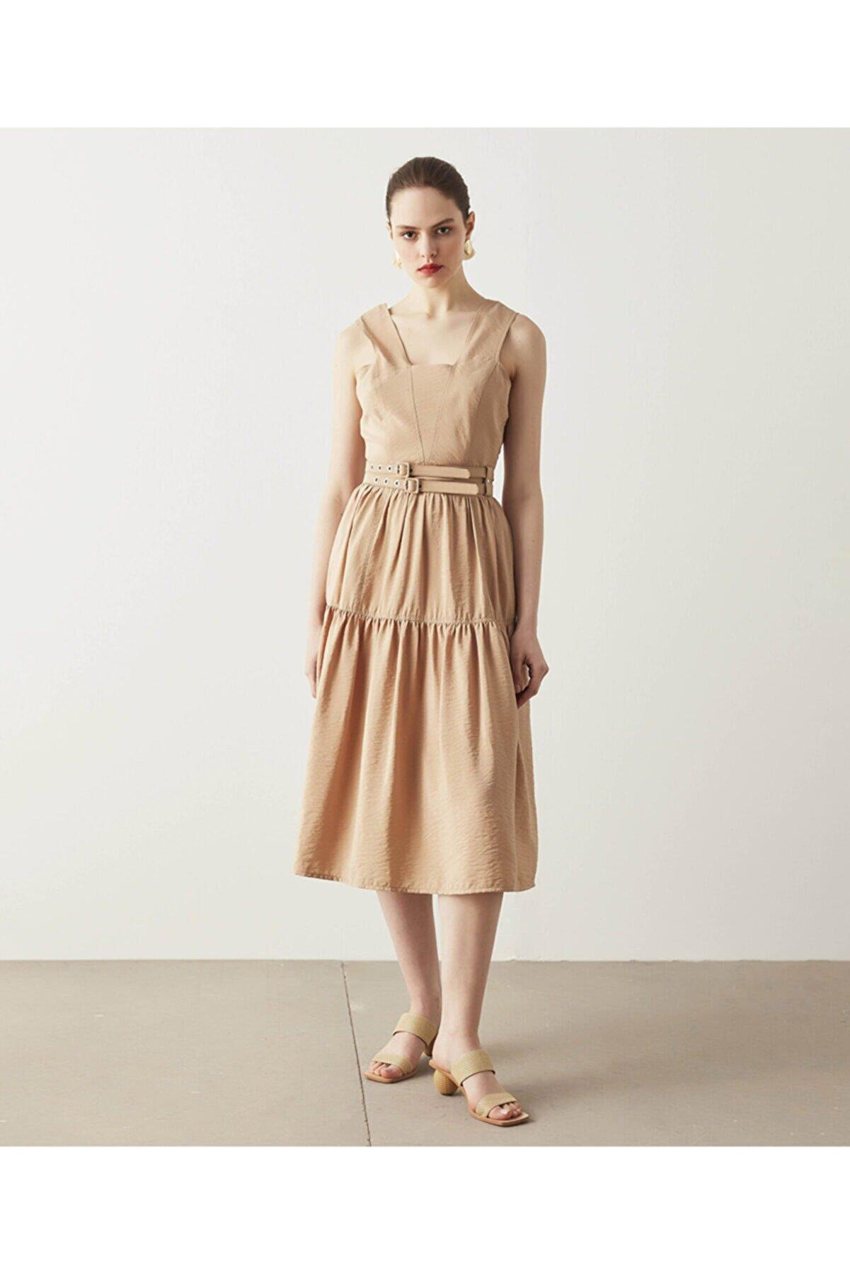 İpekyol Kemer Detaylı Elbise