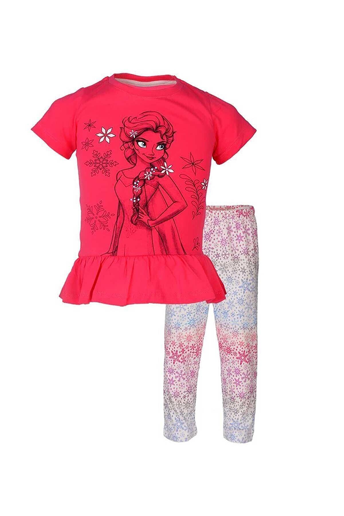 Frozen Lisanslı Kız Çocuk Pijama Takımı