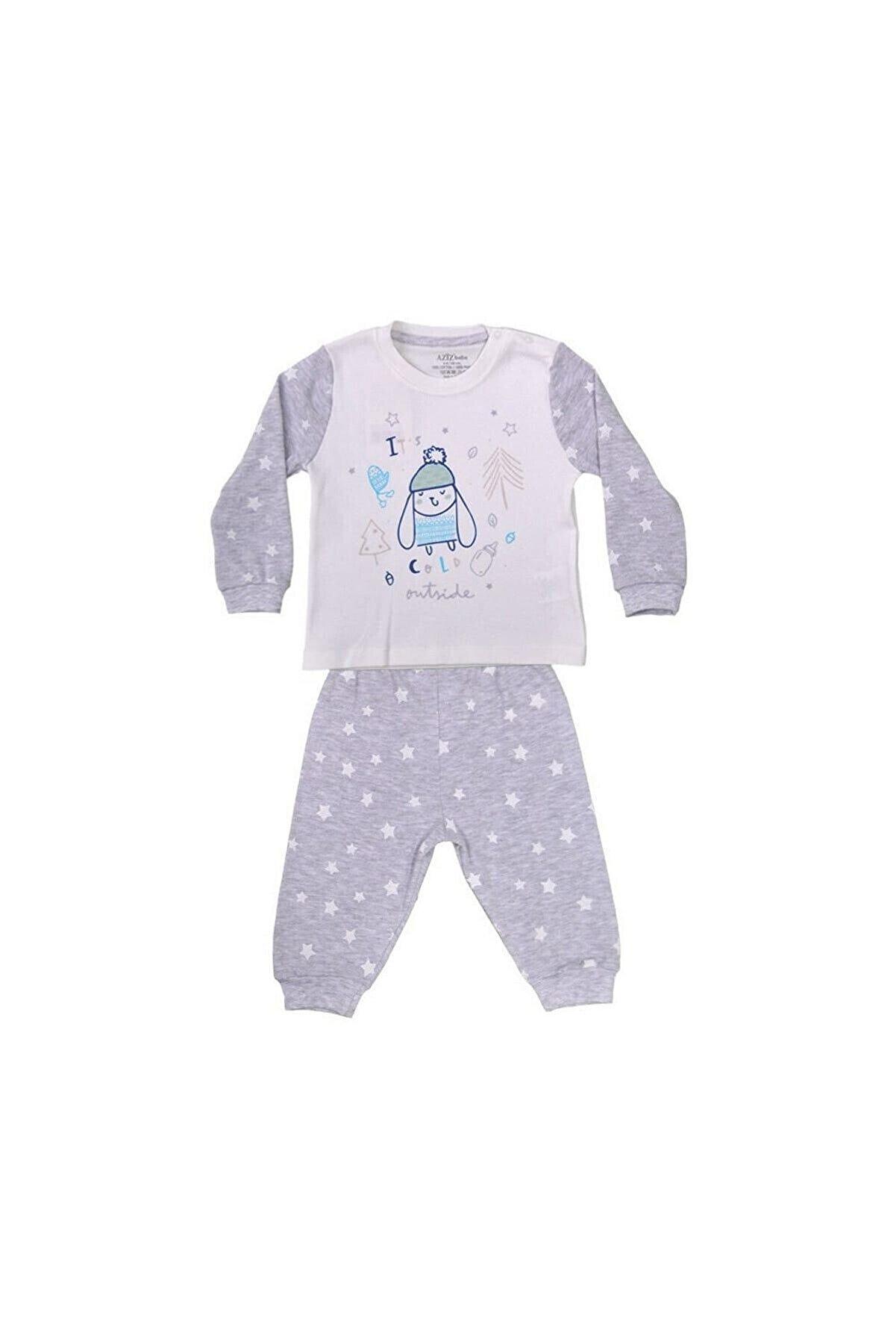 Aziz Bebe Ekru Bebek Pijama Takımı