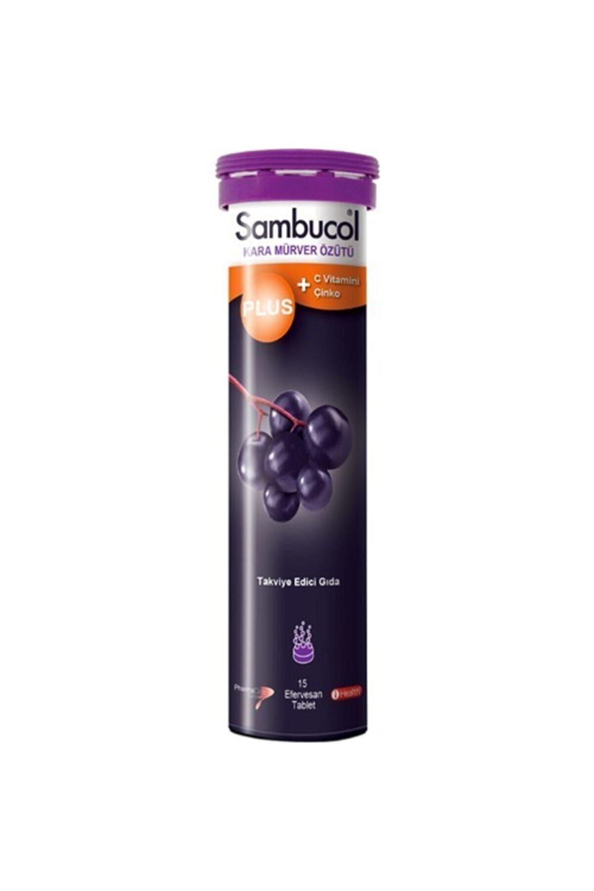 Sambucol Plus Kara Mürver + C Vitamini Çinko Takviye Edici Gıda 15 Tablet (skt:08.2022)
