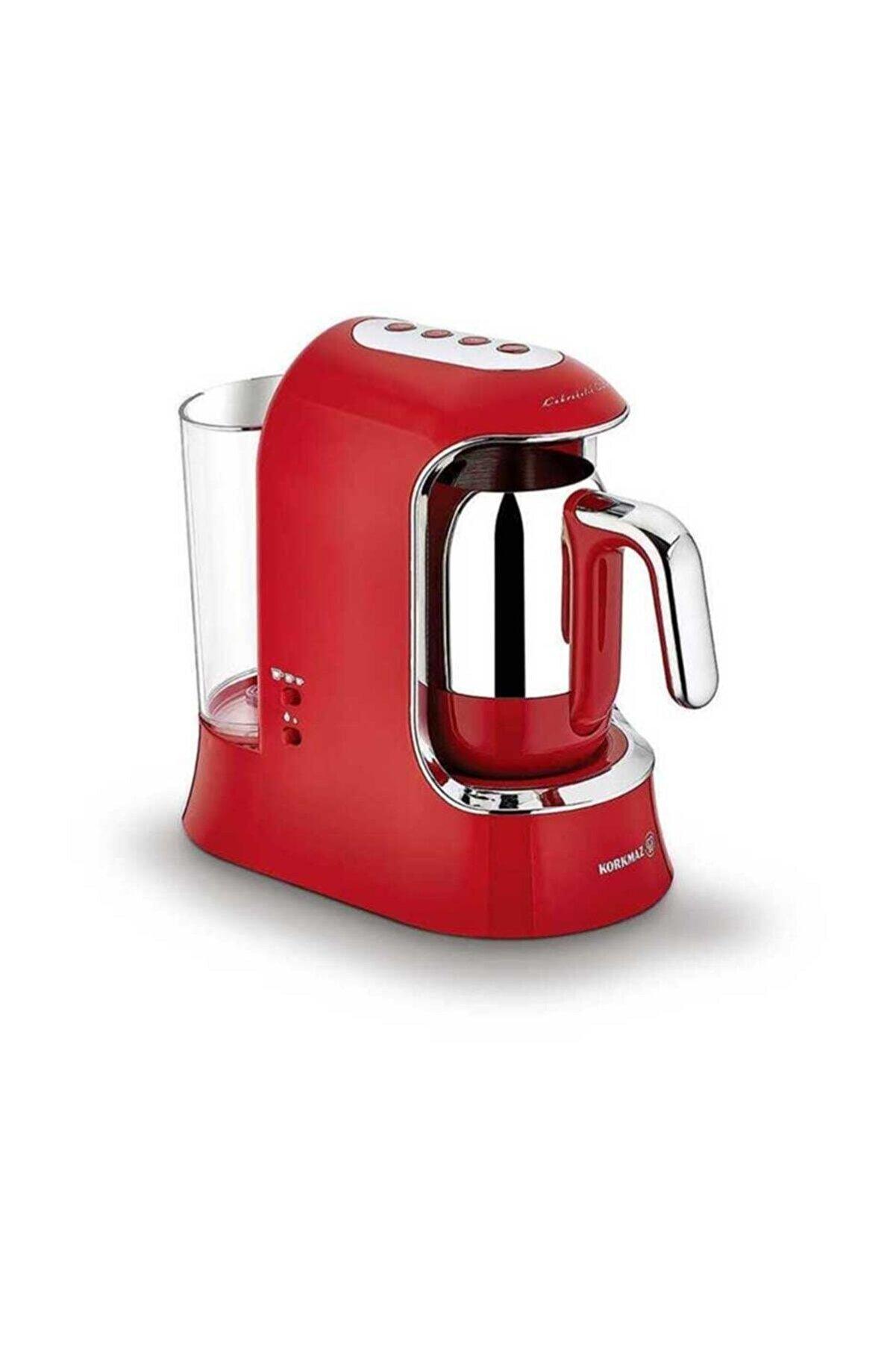 KORKMAZ Kahvekolik Aqua Kırmızı/krom Kahve Makinesi A862