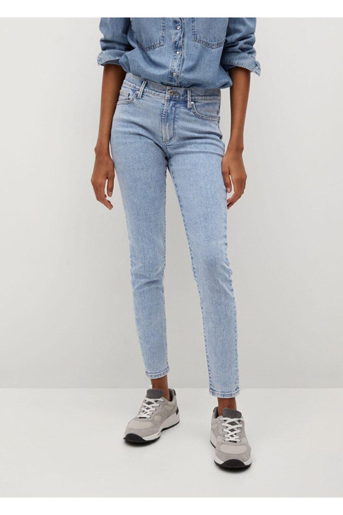 Mango Elsa Orta Bel Skinny Jean Pantolon