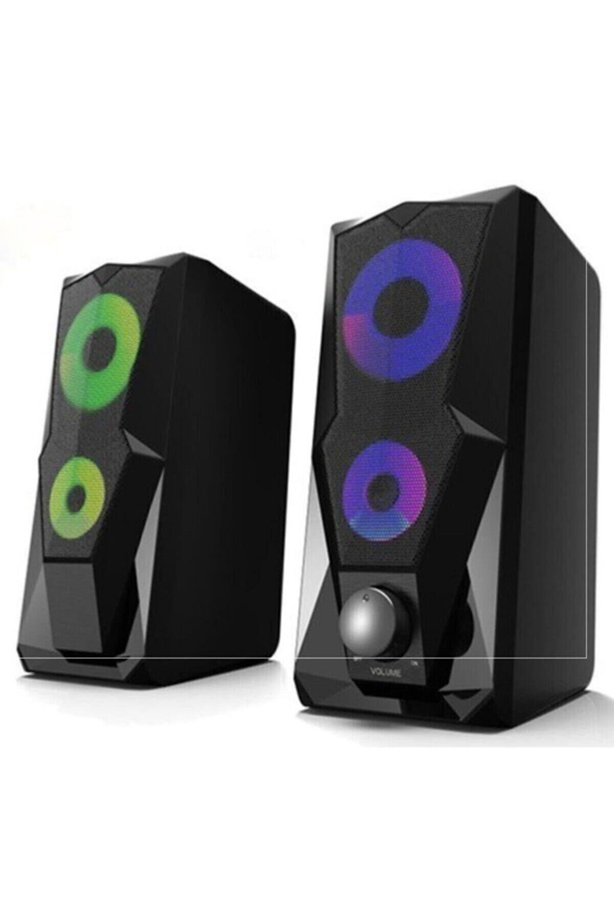 Kerasus Kr-1002 Rocket 1+1 Led Işıklı Gaming Oyuncu Hoparlörü Speaker