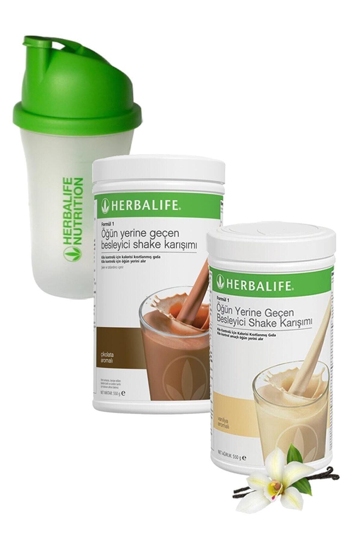Herbalife Formül 1 Shake Karışım Seti Çikolata + Vanilya 550 gr + Shaker