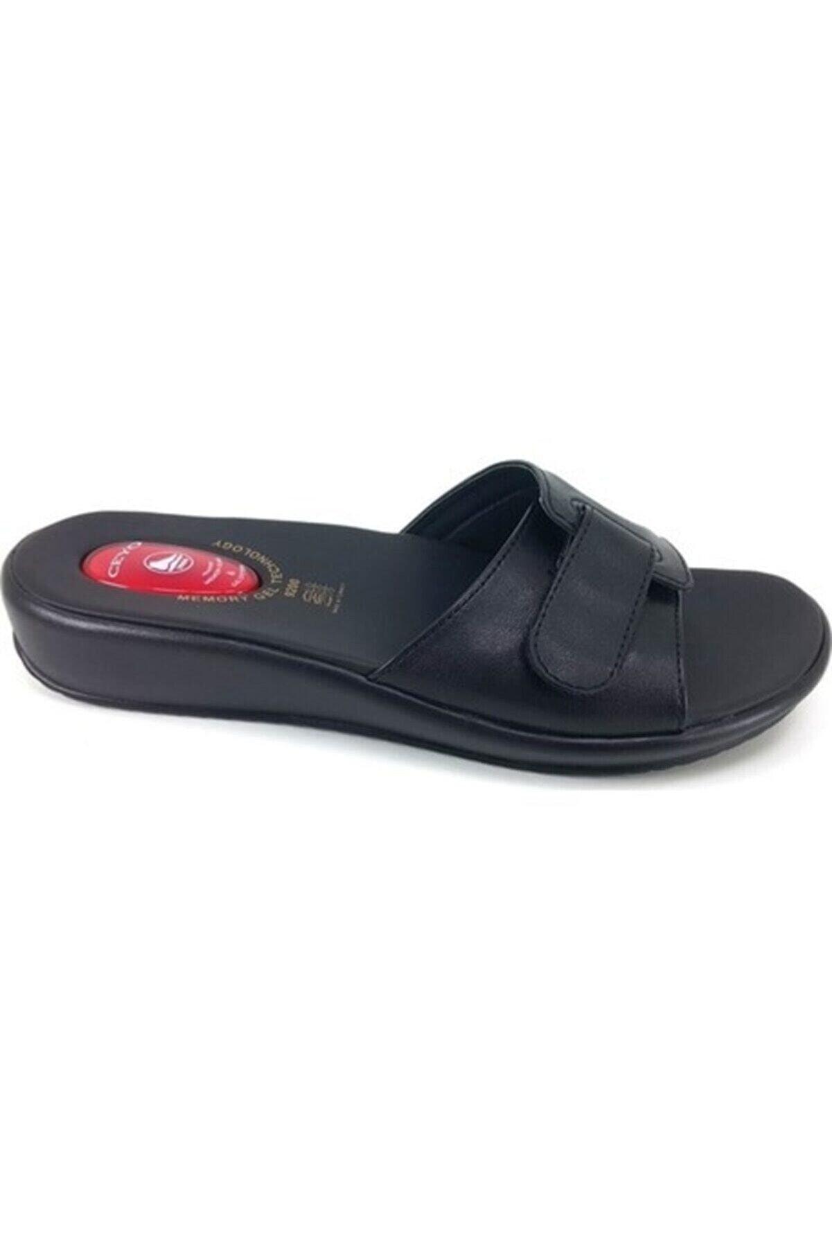 Ceyo 9200 Siyah Kemik Çıkıntısı Ve Topuk Dikeni Terliği