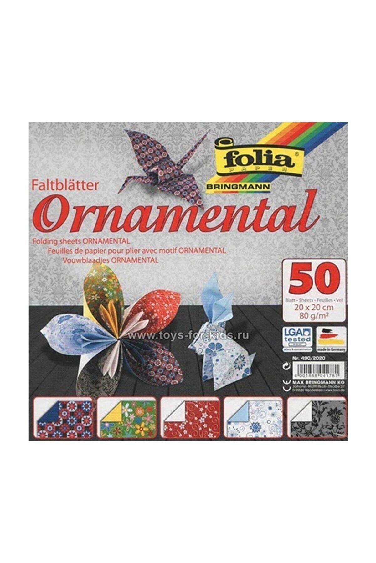 Folia Folıa Origami 20x20cm 50 Yaprak 5 Motif Süs