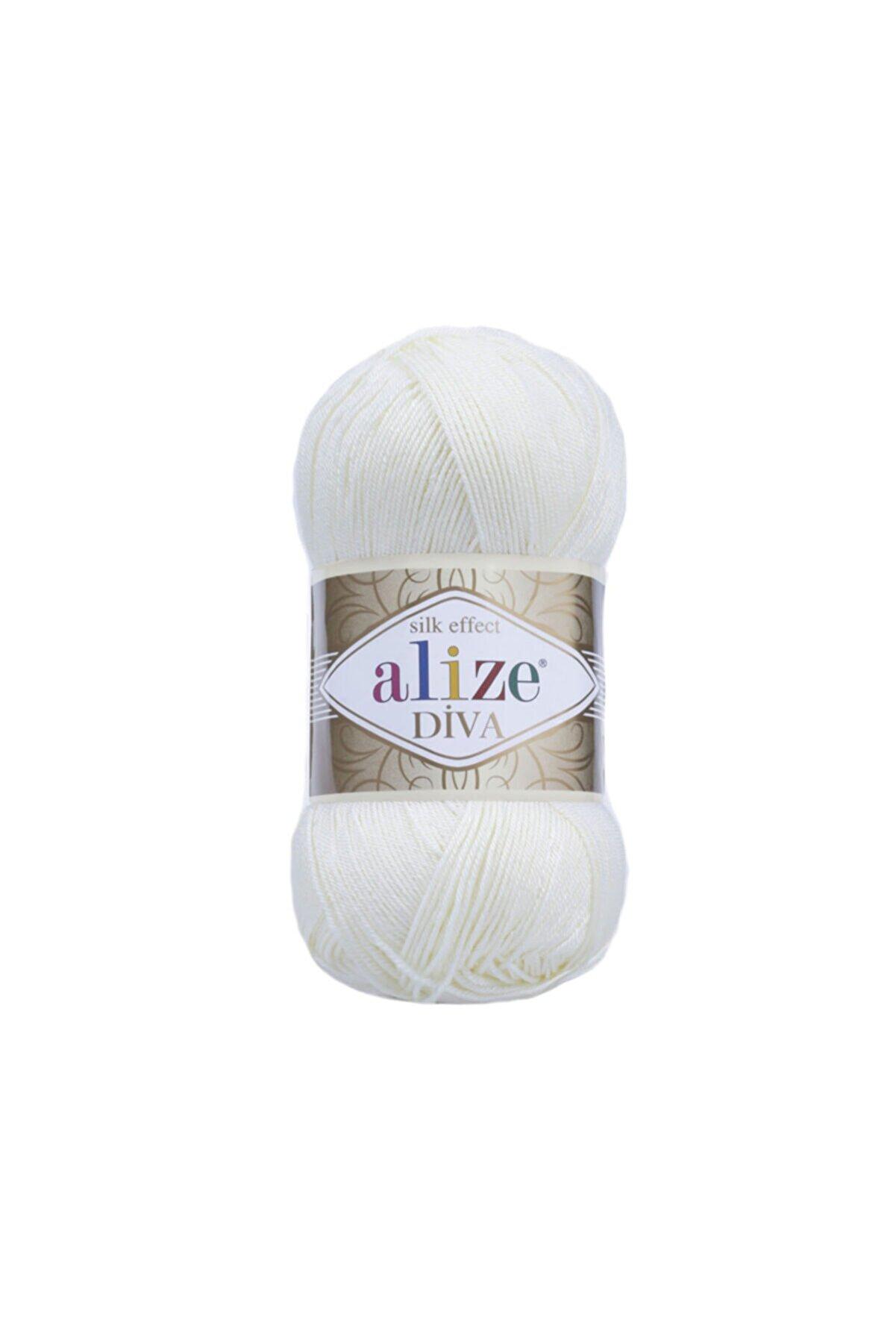 Alize Diva Şeker Beyaz 1055