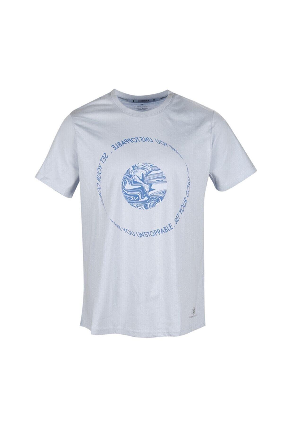 Lumberjack CT353 PAUL TIE T-SHIRT Mavi Erkek T-Shirt 100582413