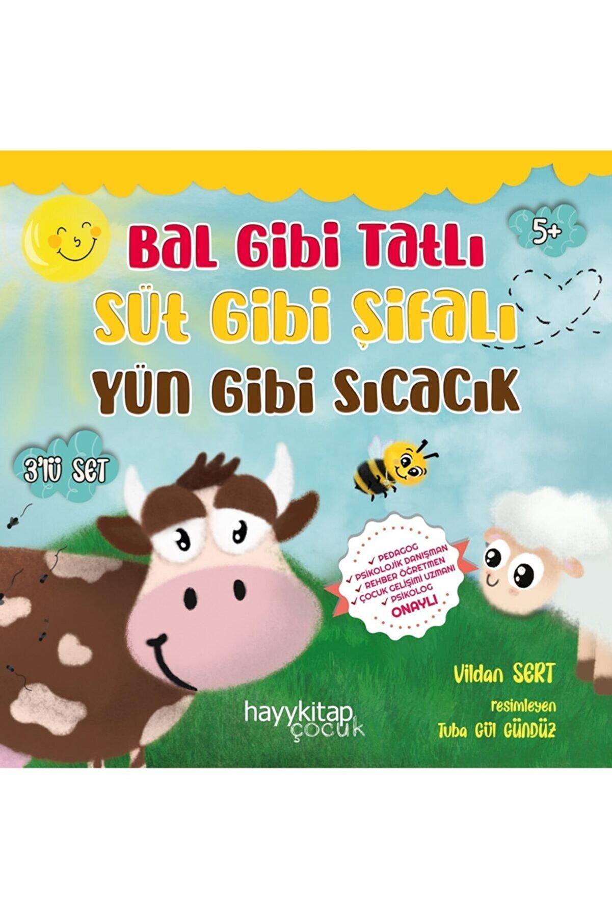 Hayykitap Bal Gibi Tatlı Süt Gibi Şifalı Yün Gibi Sıcacık 3'lü Set - Vildan Sert