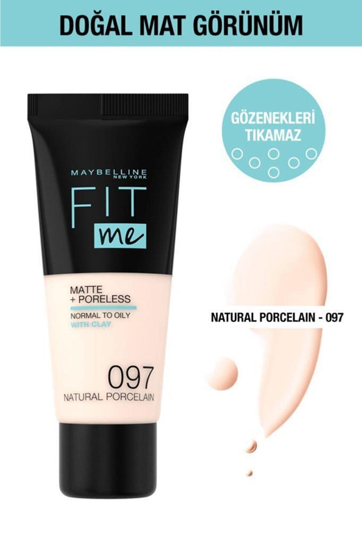 Maybelline New York Fit Me Matte+poreless Fondöten - 97 Natural Porcelain
