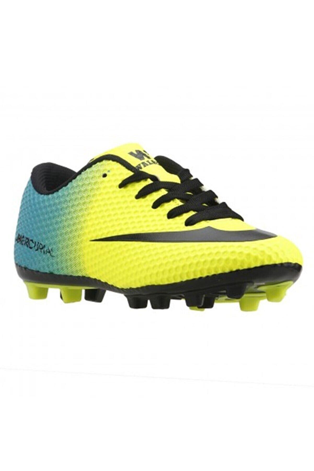 Walked Erkek Sarı Çim Saha Krampon Futbol Spor Ayakkabı