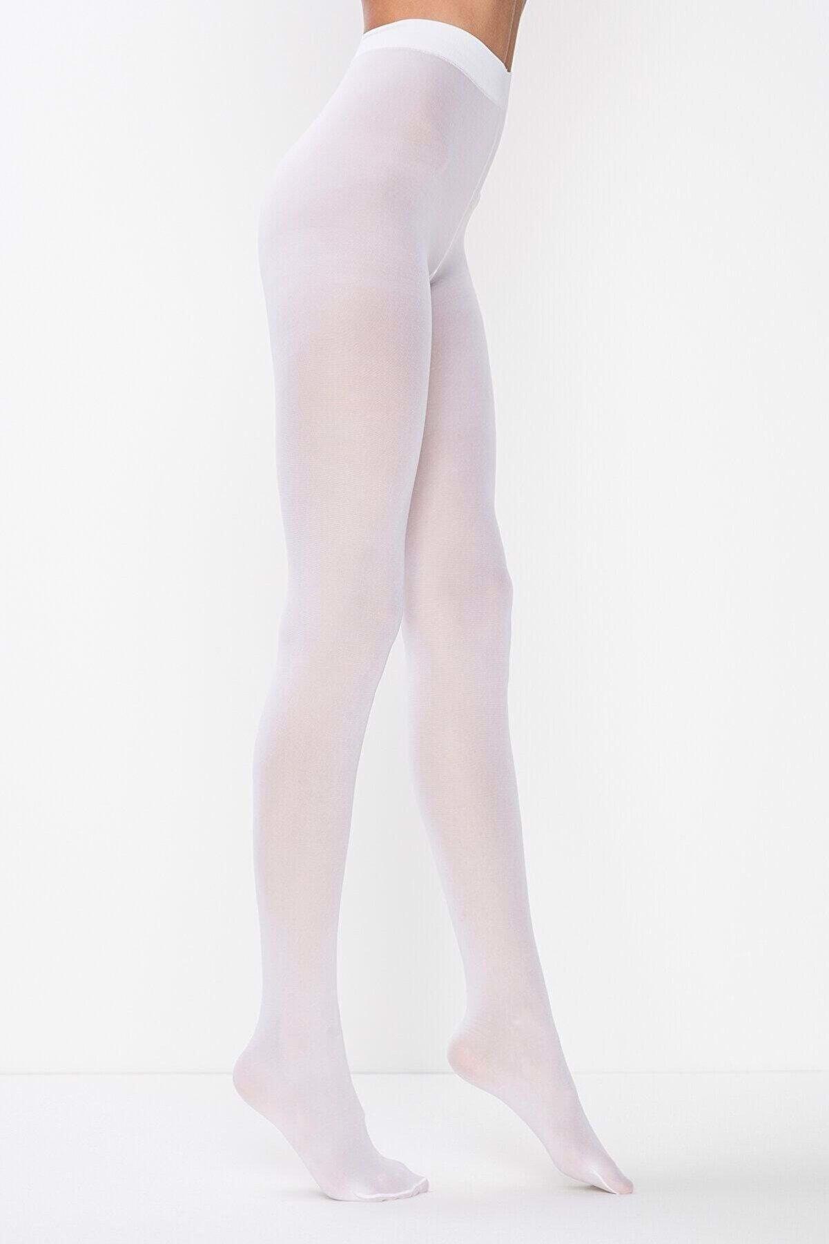 Penti Kadın Beyaz Mikro 40 Külotlu Çorap