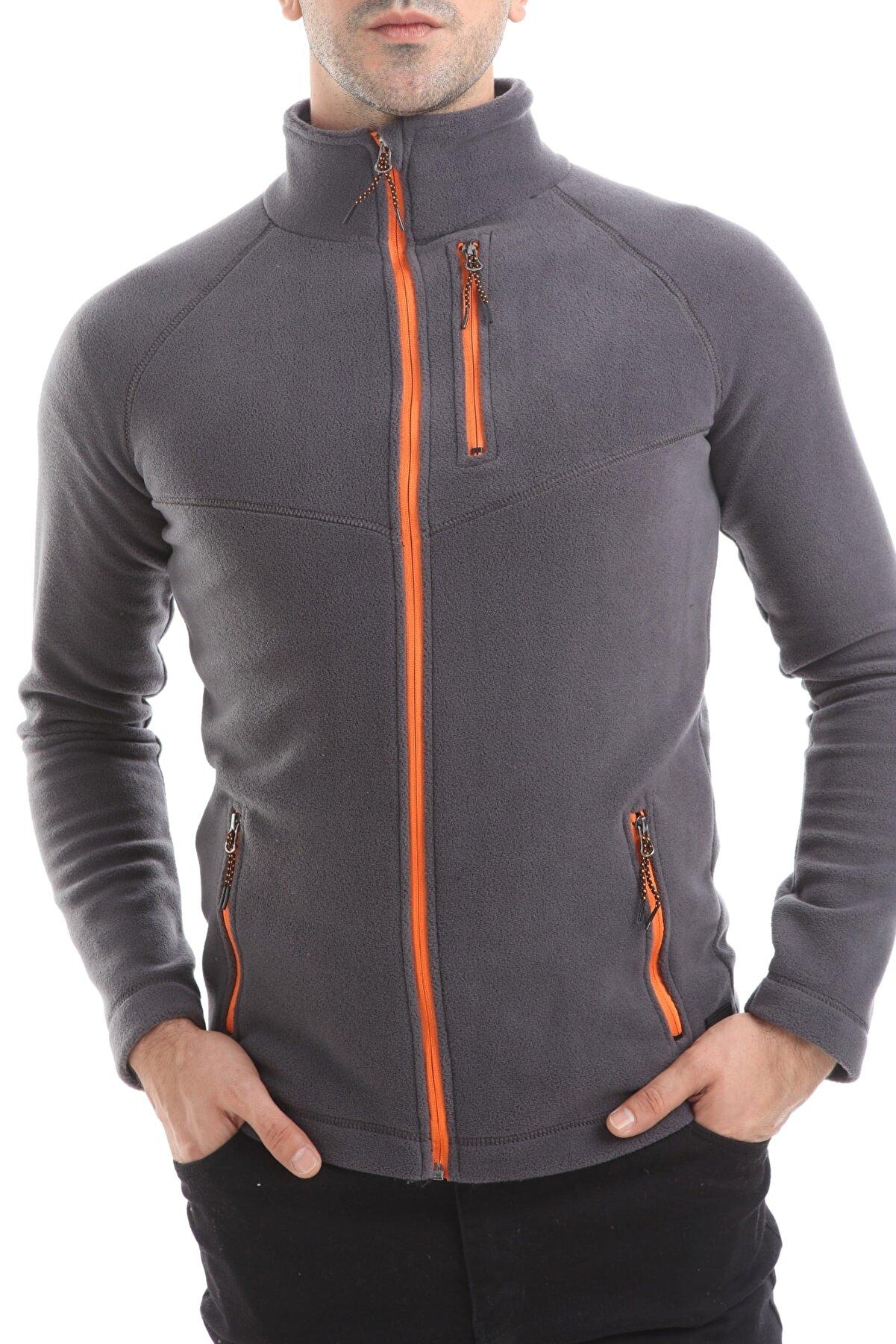 Ghassy Co Erkek Renkli Full Zip Tam Fermuarlı Polar Ceket