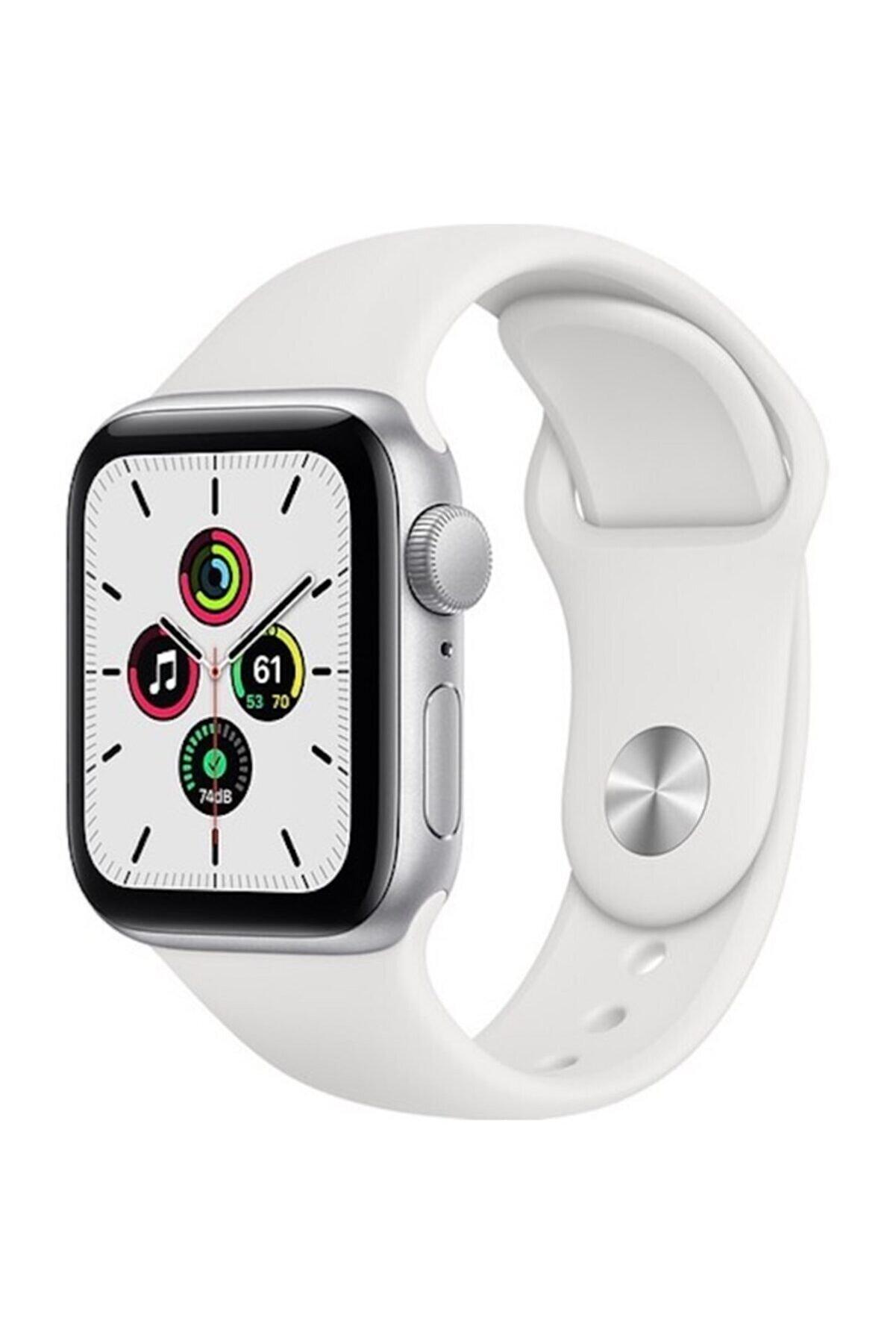 Apple Watch Se Gps 40 Mm Gümüş Rengi Alüminyum Kasa Ve Beyaz Spor Kordon
