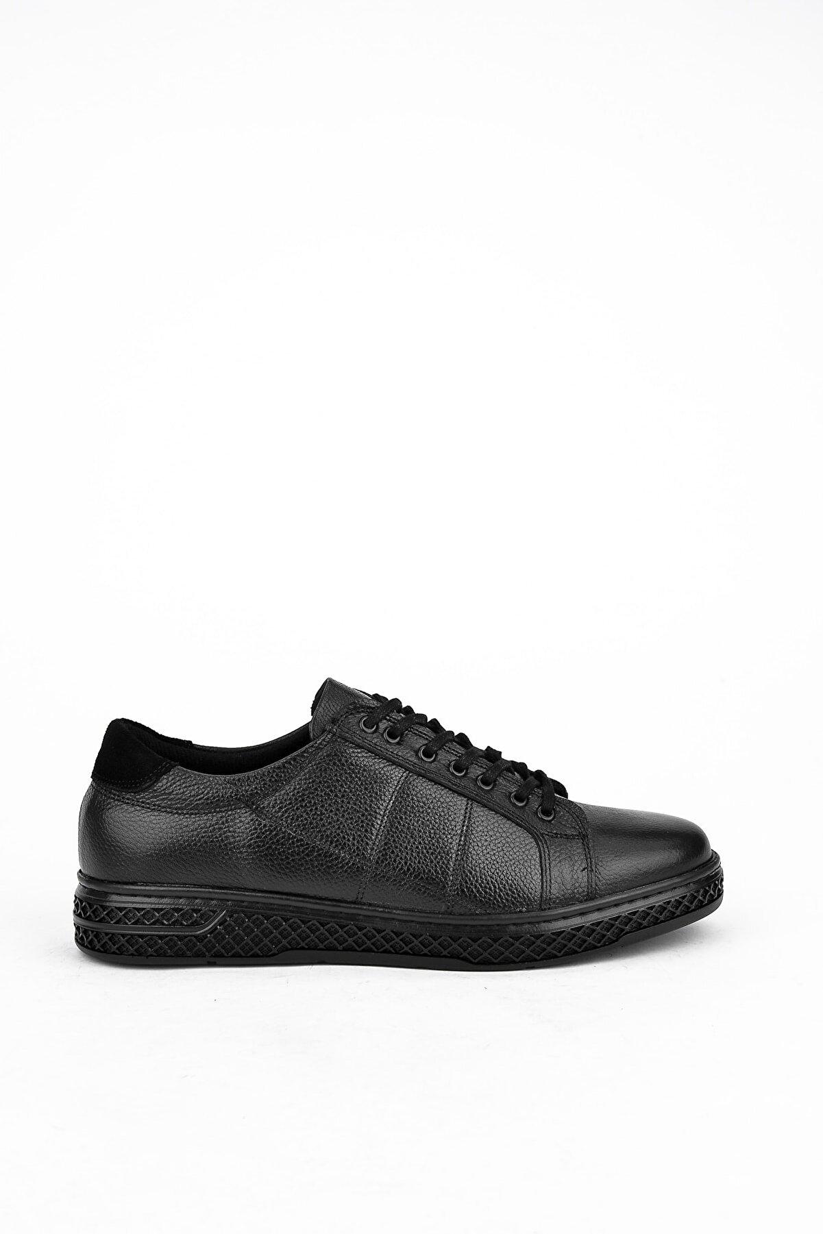 Ziya Erkek Siyah Deri Ayakkabı