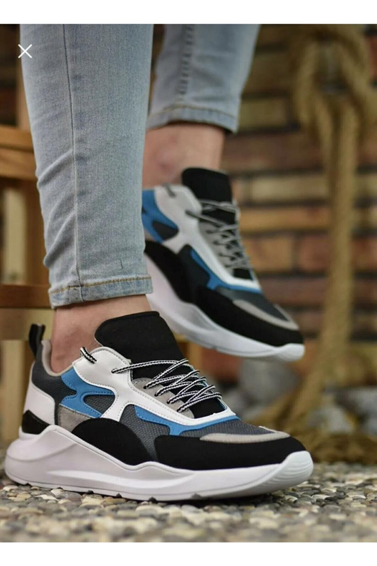 Conteyner Mavi Erkek Sneaker