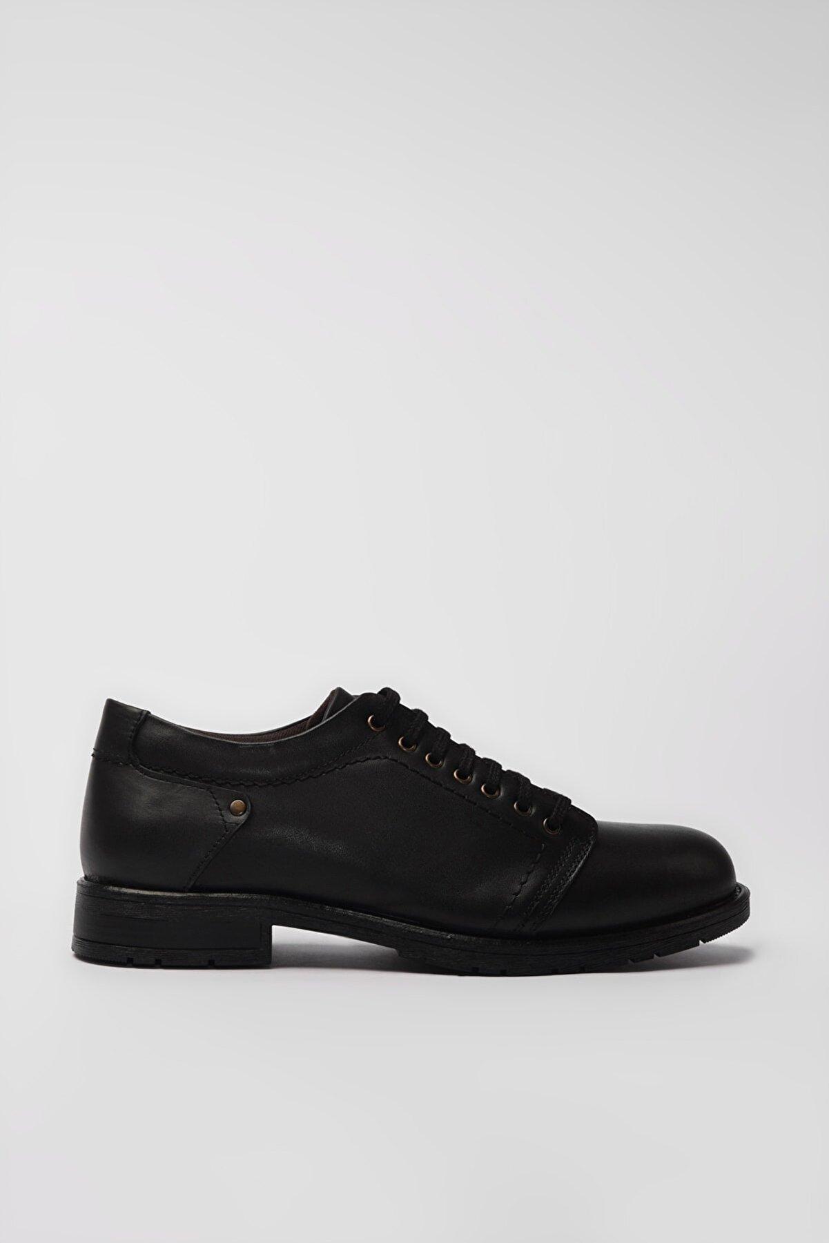 Yaya by Hotiç Hakiki Deri Siyah Erkek Casual Ayakkabı 02AYY194960A100