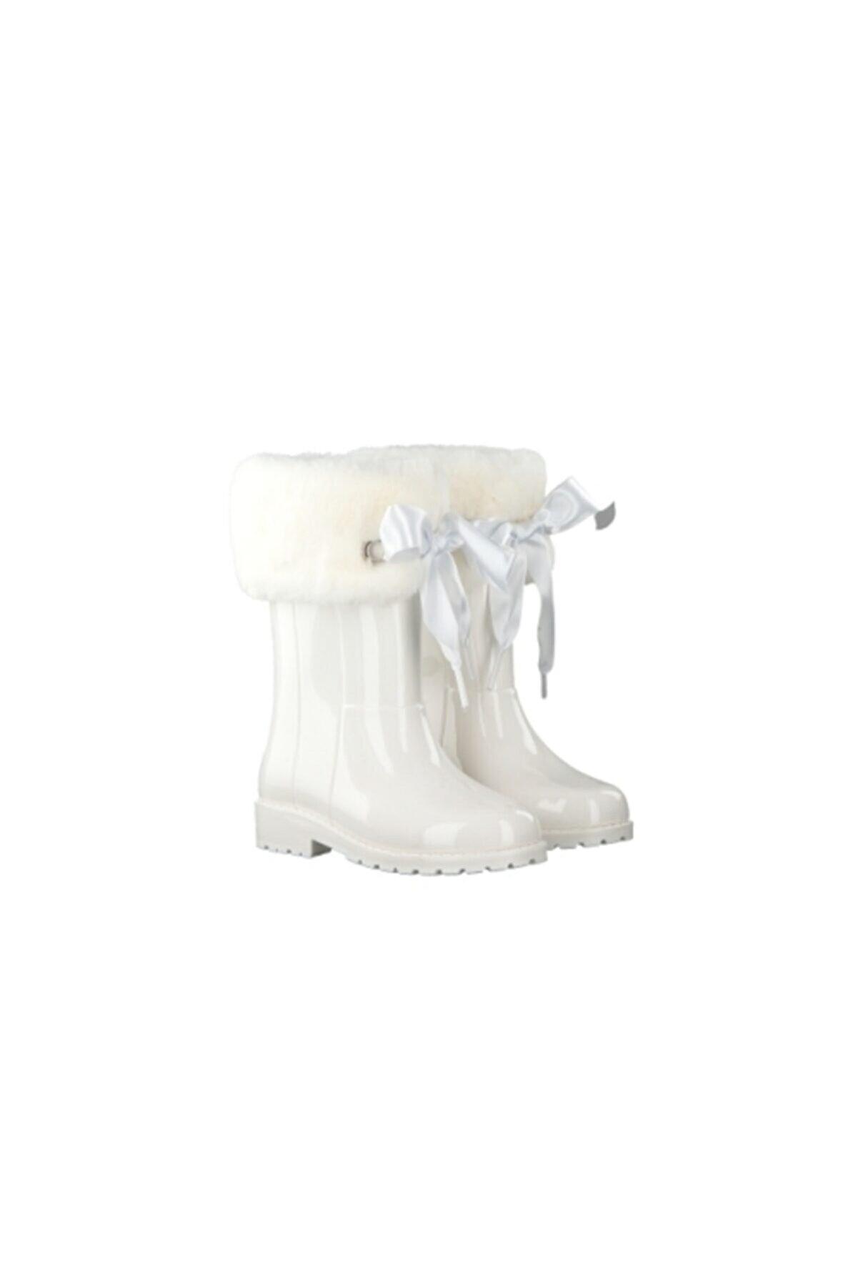 IGOR Kız Çocuk Beyaz Yağmur Çizmesi