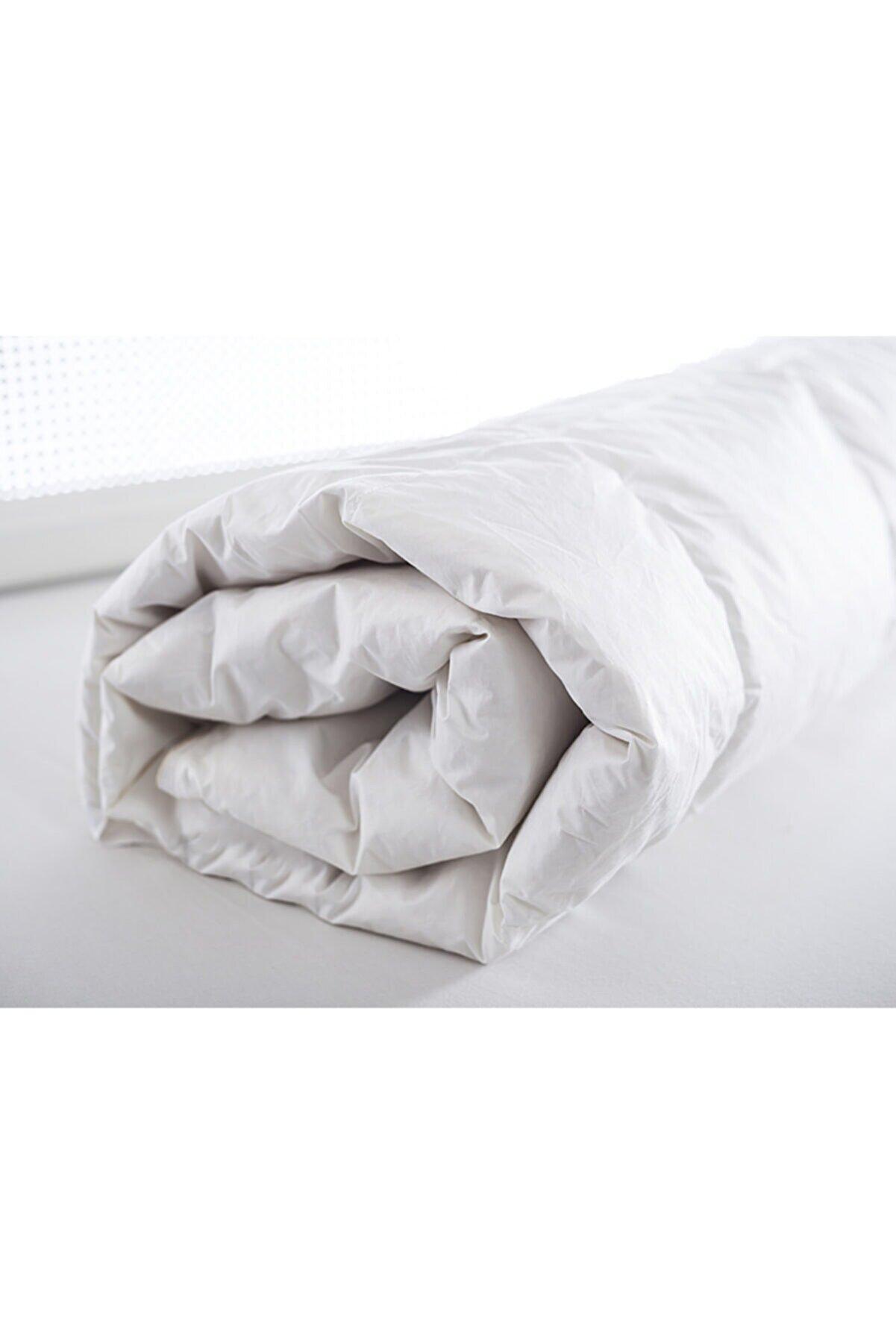 English Home Gaynor Kaz Tüyü Tek Kişilik Yorgan 155x215 Cm Beyaz