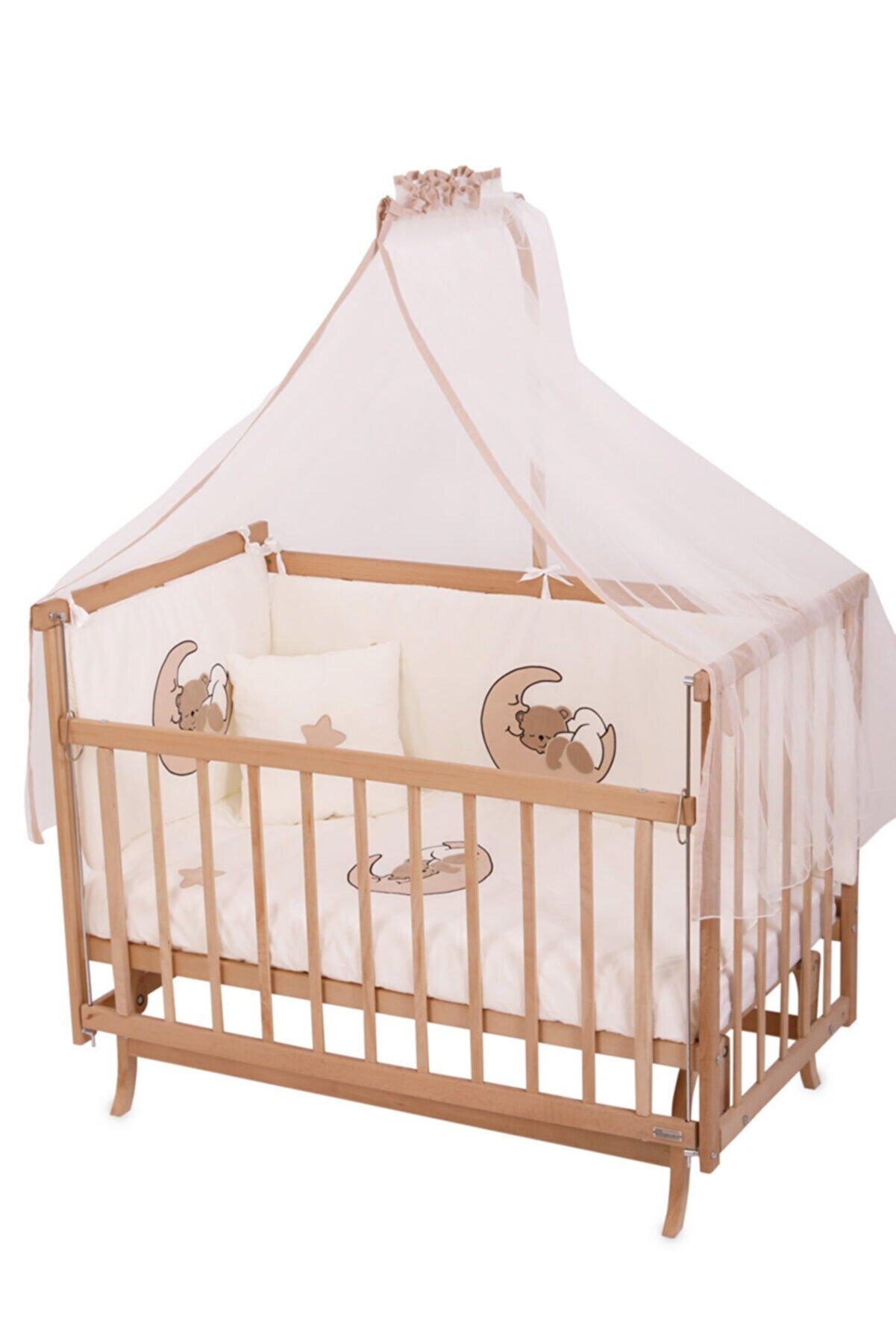 Bebekonfor Anne Yanı Beşik Elyeza Krem Ayıcık Uyku Setli