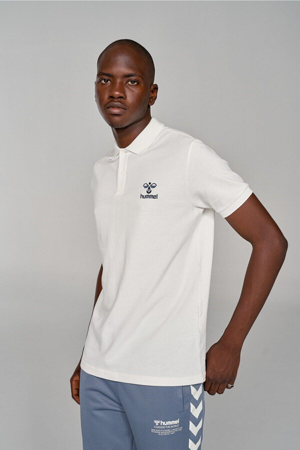 HUMMEL HMLLEON POLO T-SHIRT S/S Beyaz Erkek T-Shirt 101086238