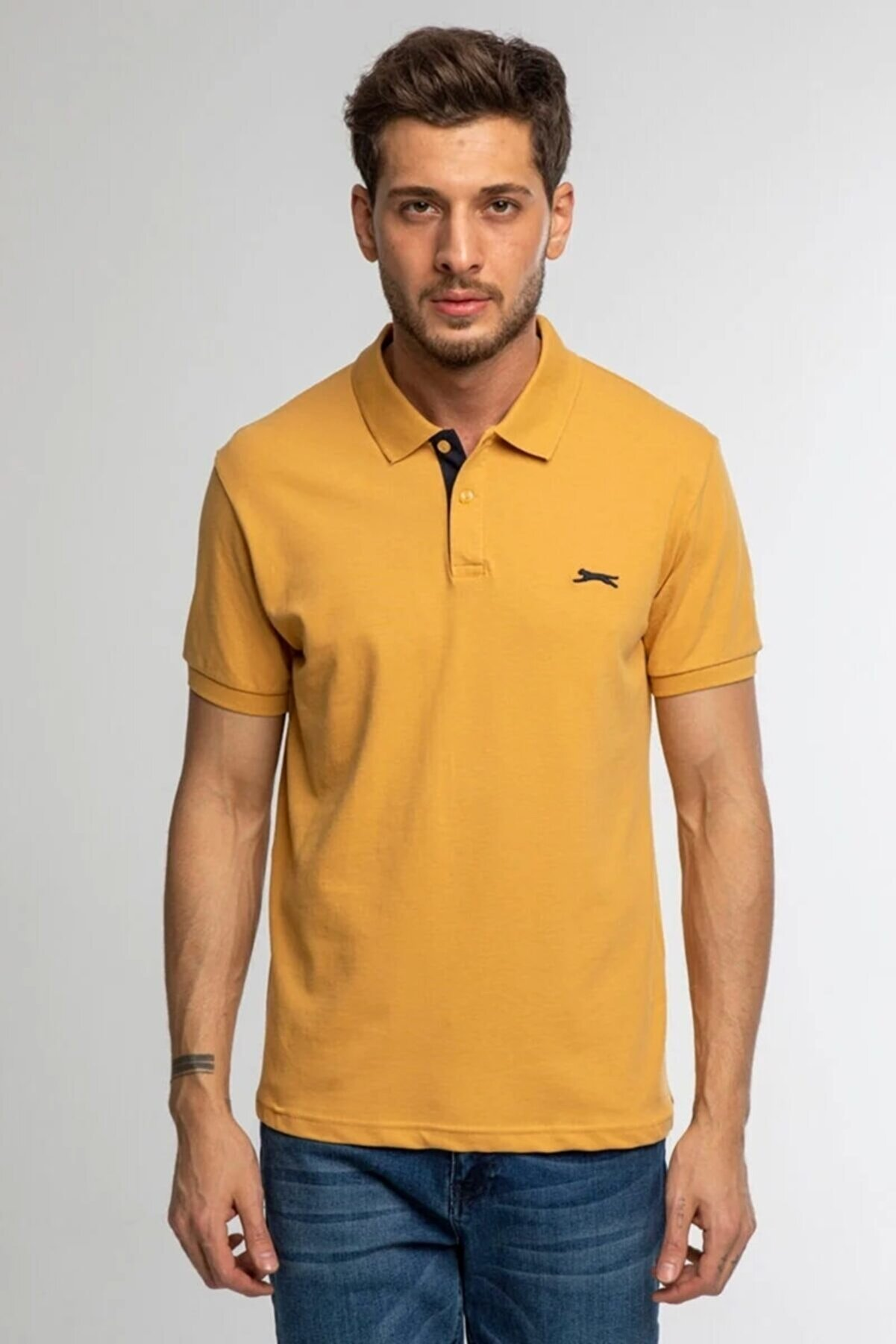 Slazenger Bambi Erkek T-shirt Hardal