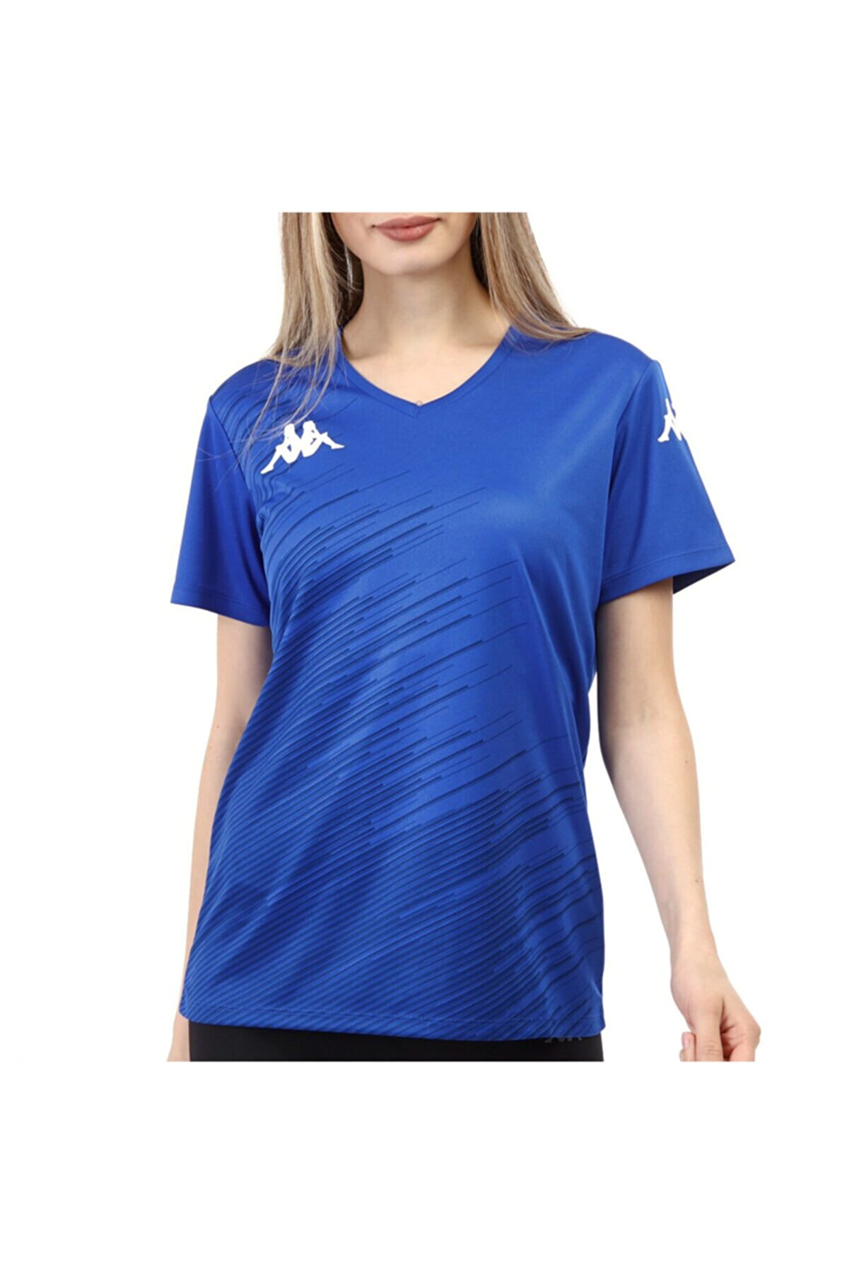 Kappa Kadın Saks Abuw Poly T-shirt