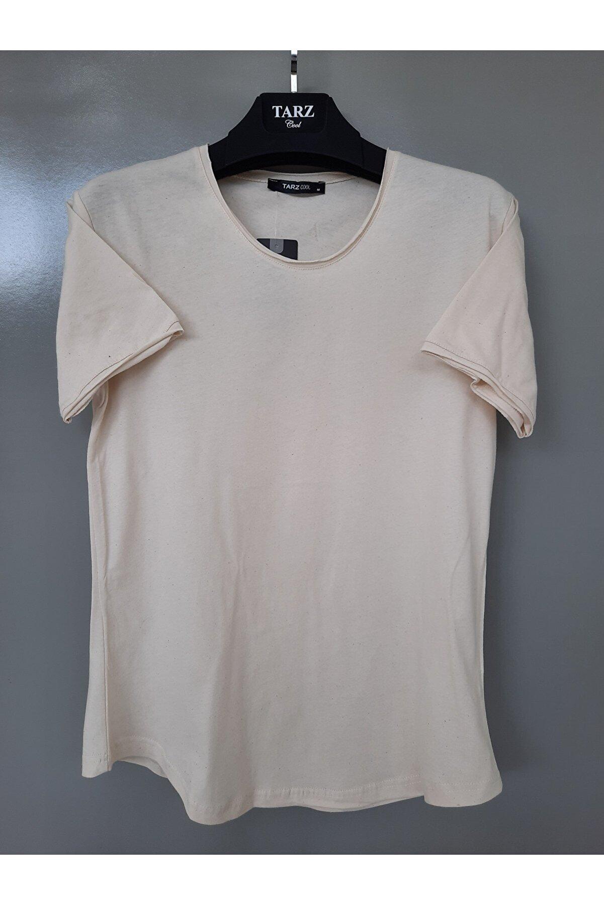 Tarz Cool Erkek Açık Kemik Pis Yaka Salaş T-shirt