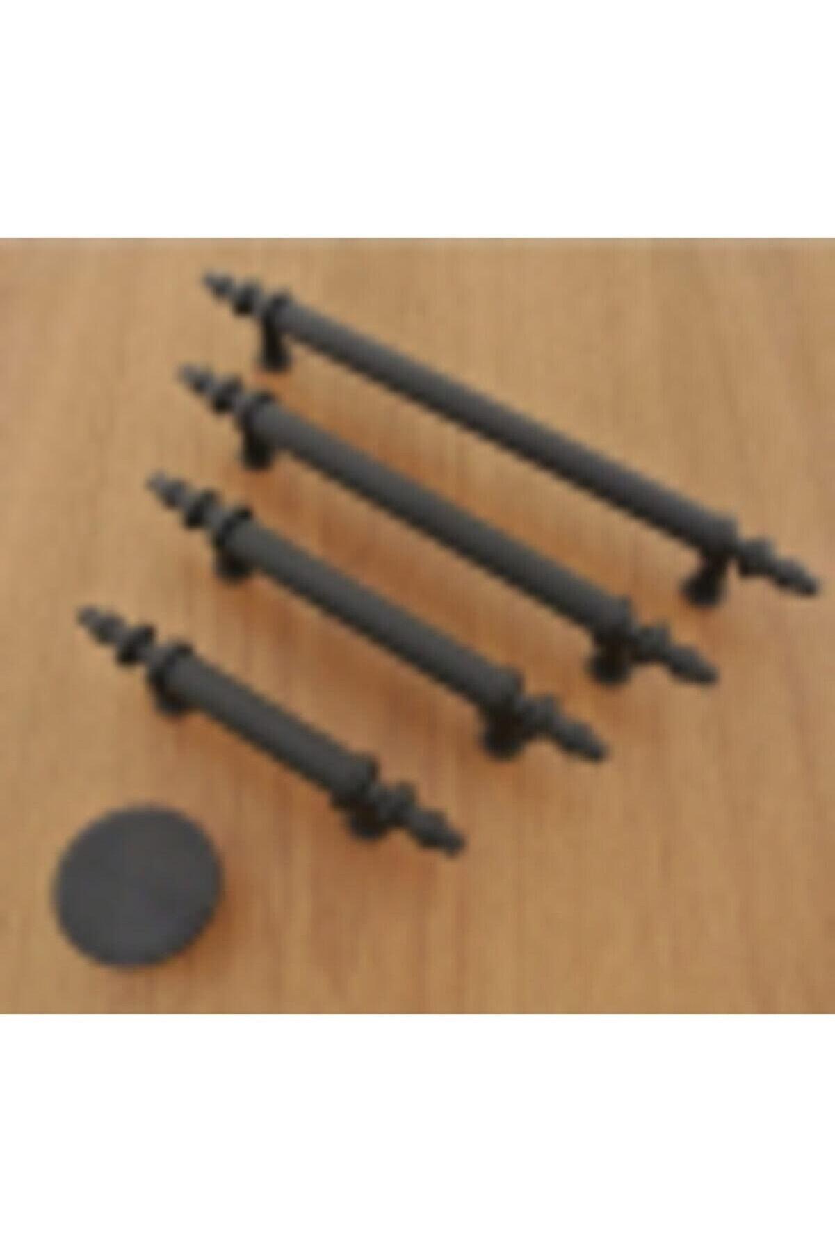 CSK.AKS Azimkar Hırdavat Kumru Boy Kulp Mat Siyah 96 Mm Dolap Vestiyer