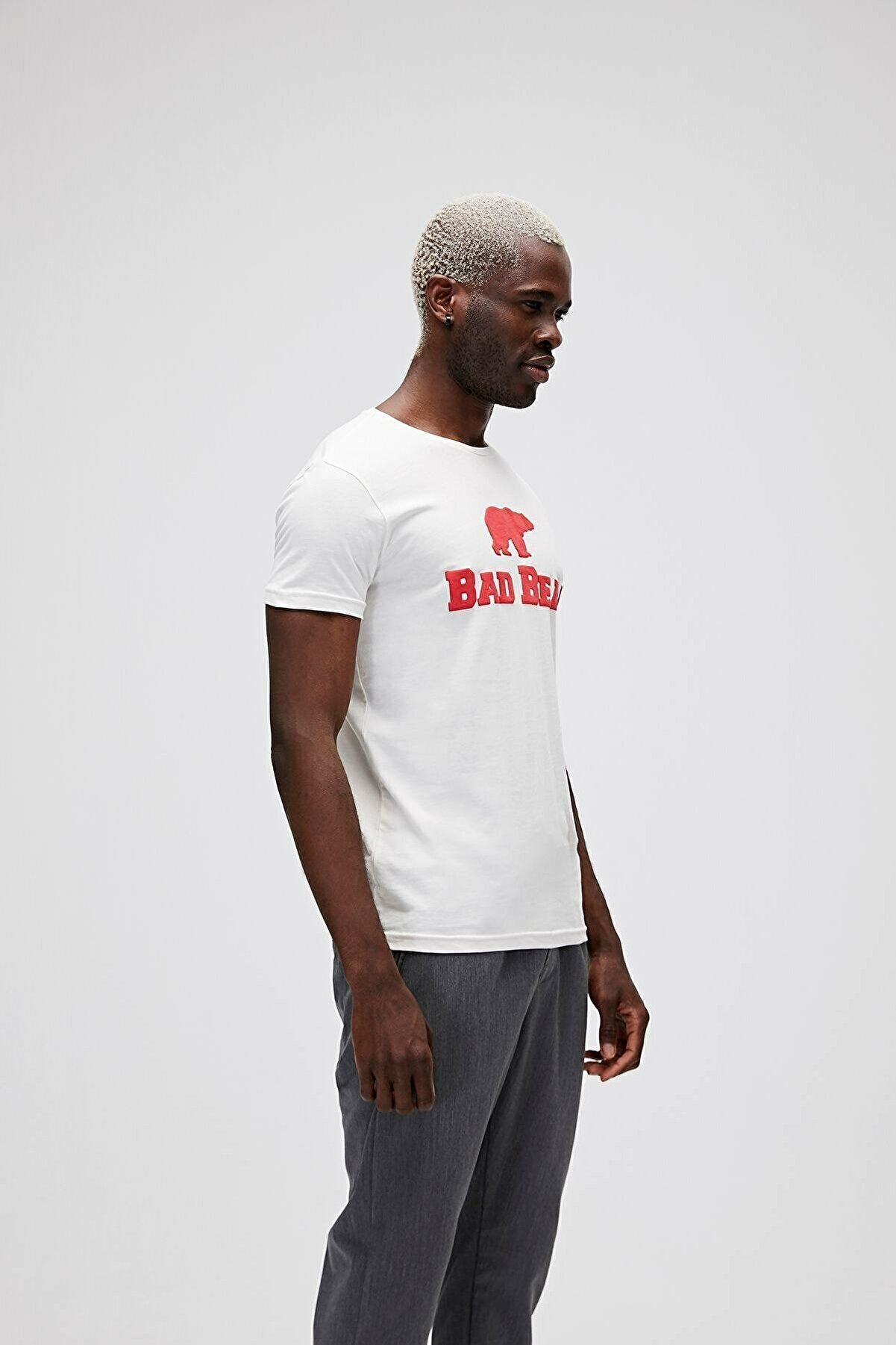 Bad Bear Erkek Beyaz Tee Off Whıte -red T-shirt