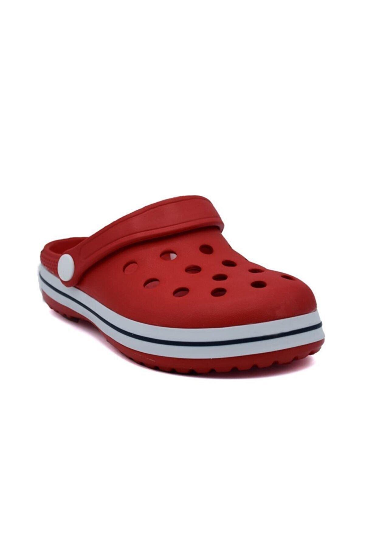 Akınalbella Erkek Çocuk Mavi&kırmızı Deniz Havuz Terliği Sandalet