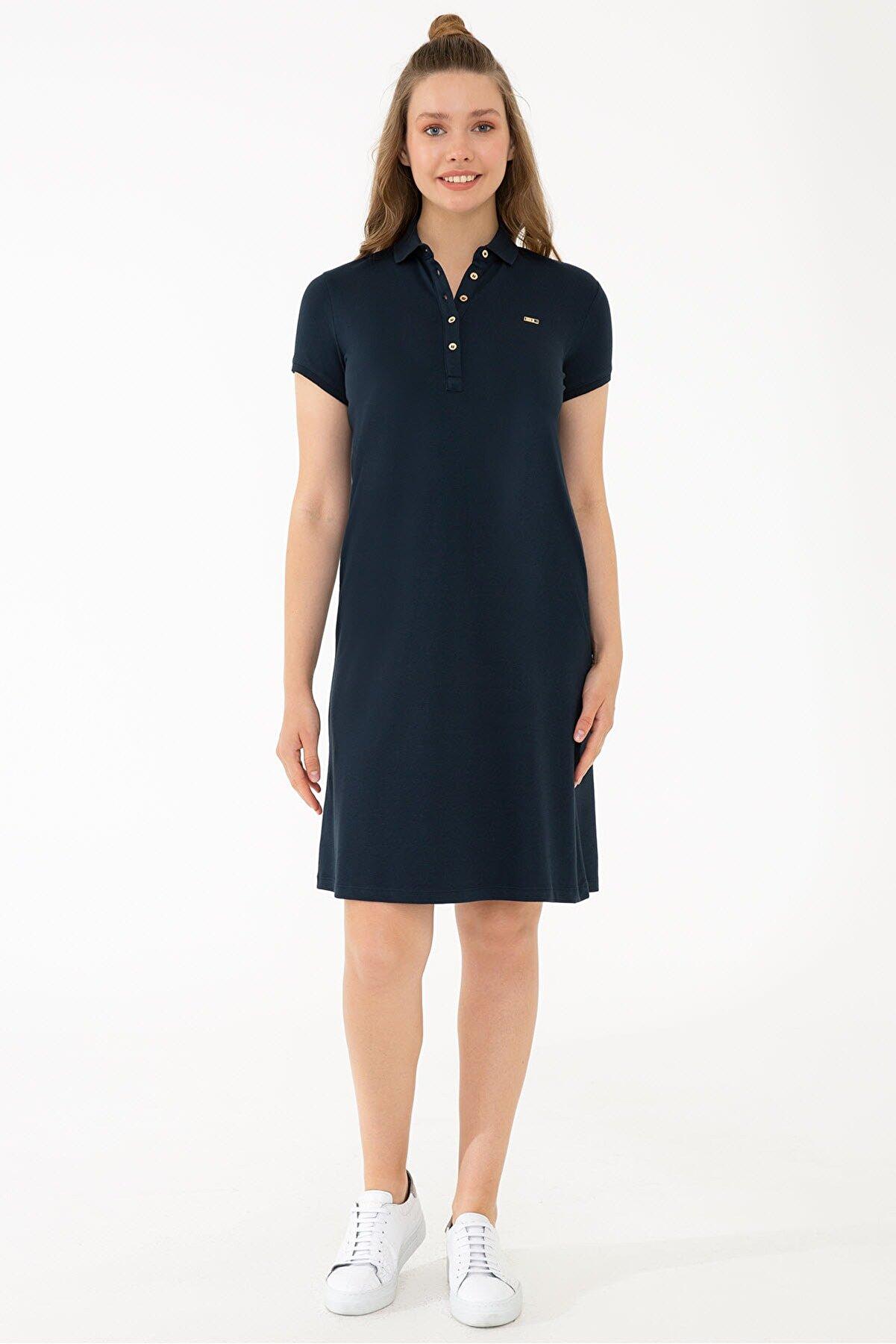 US Polo Assn Lacivert Kadın Elbise