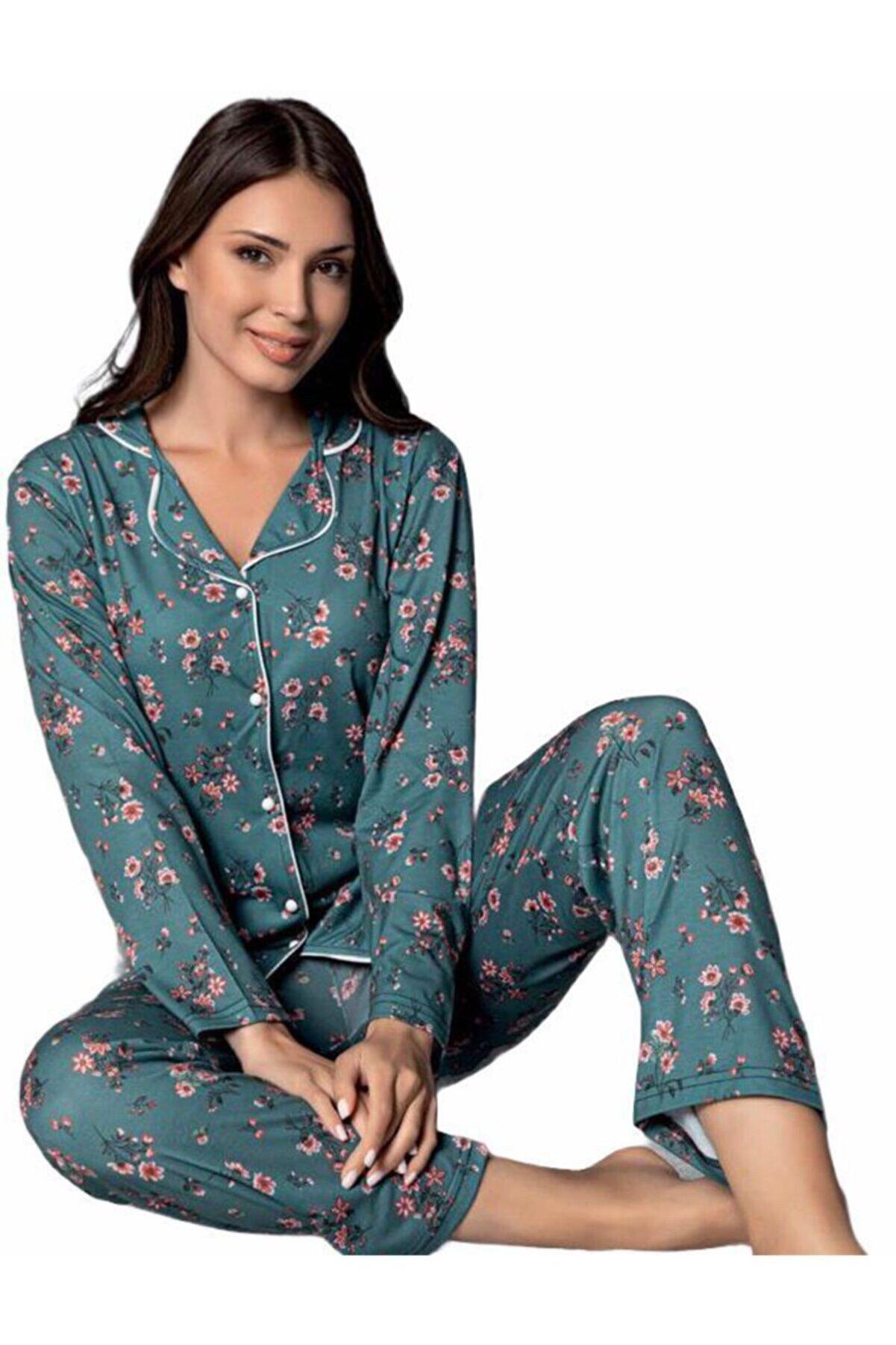Sude Kadın Uzun Kol Pijama Takımı