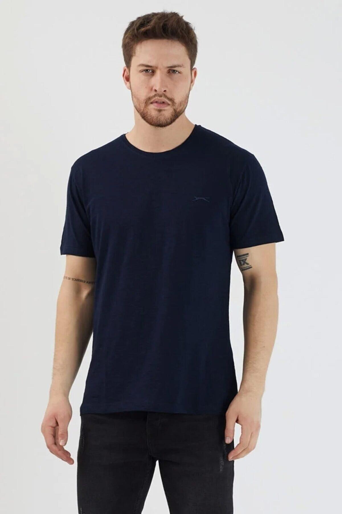 Slazenger Sander Erkek T-shirt Lacivert St11te083