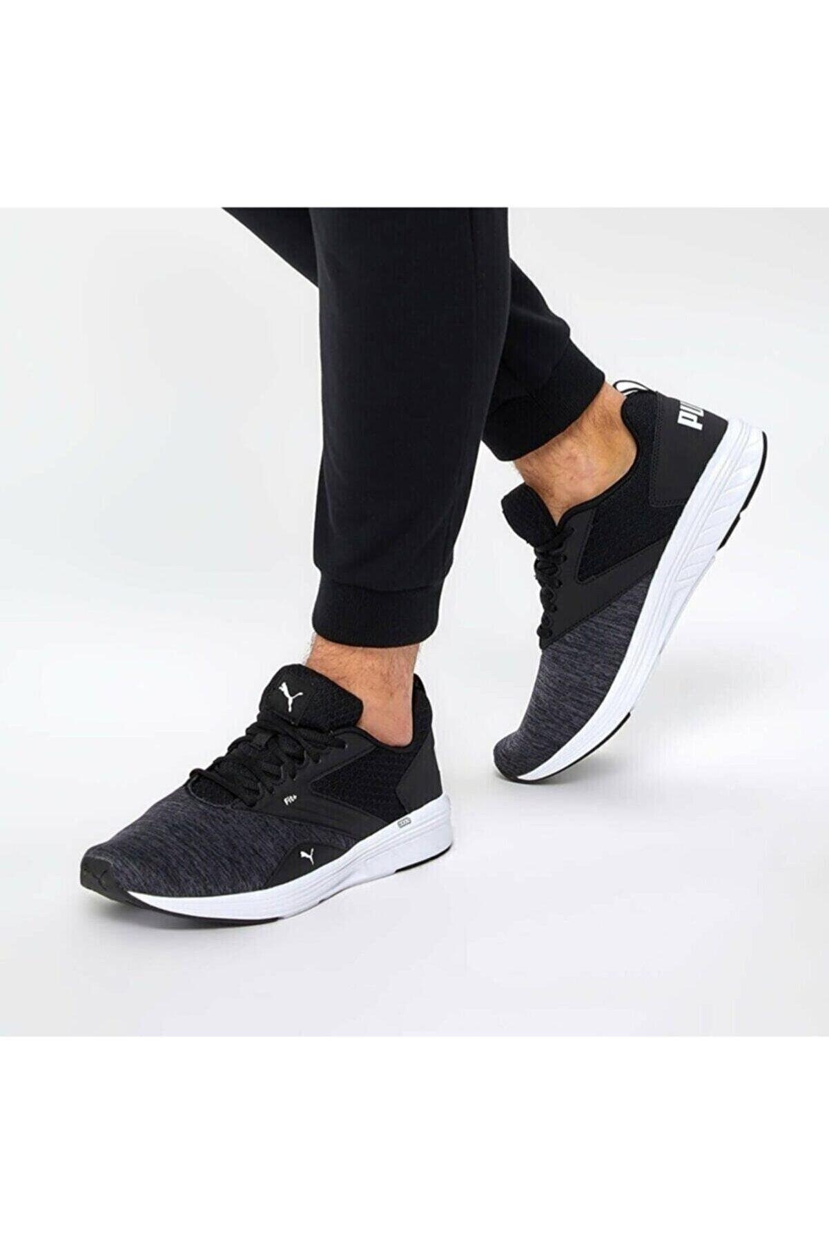 Puma NRGY COMET Siyah Beyaz Erkek Koşu Ayakkabısı 100324069