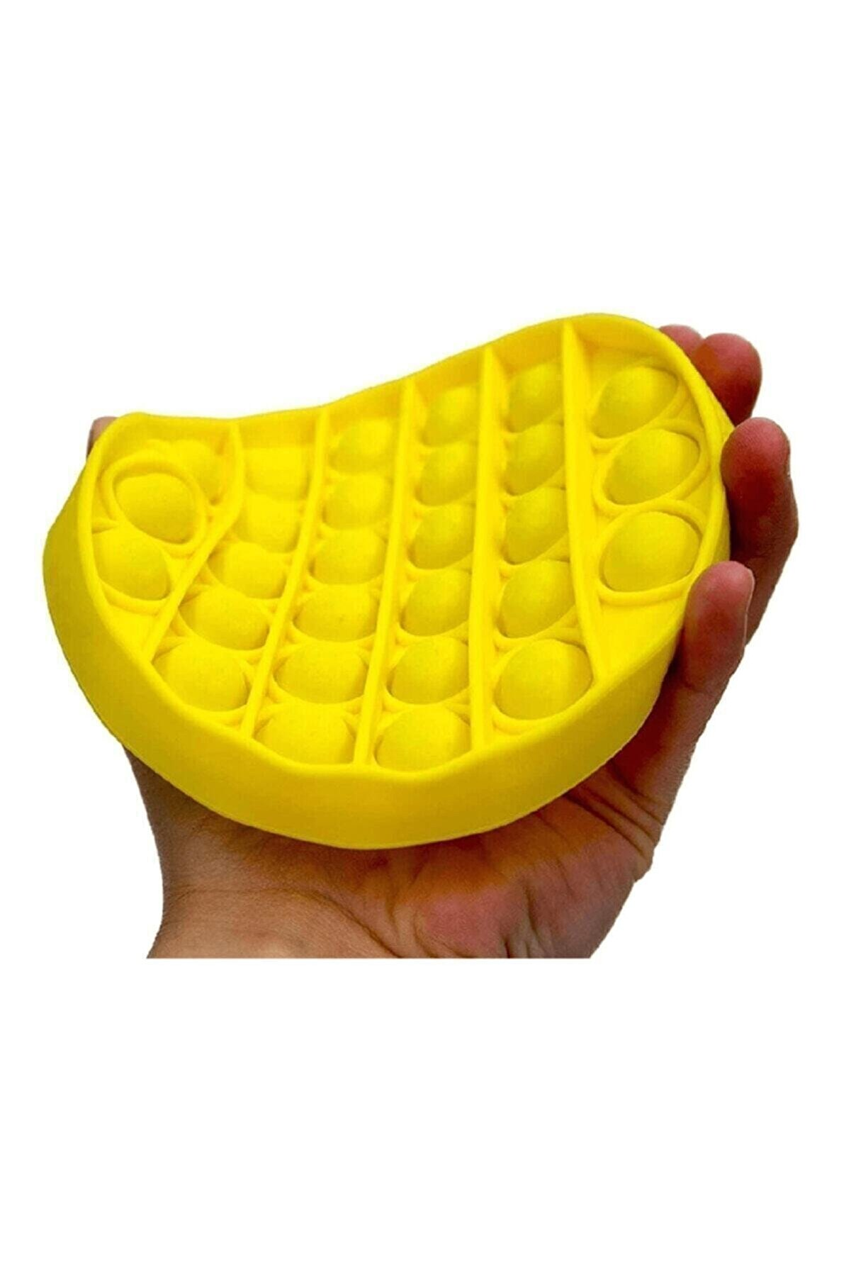 Başel Toys Popit Pop It Duyusal Oyuncak Özel Pop Stres Sarı Daire