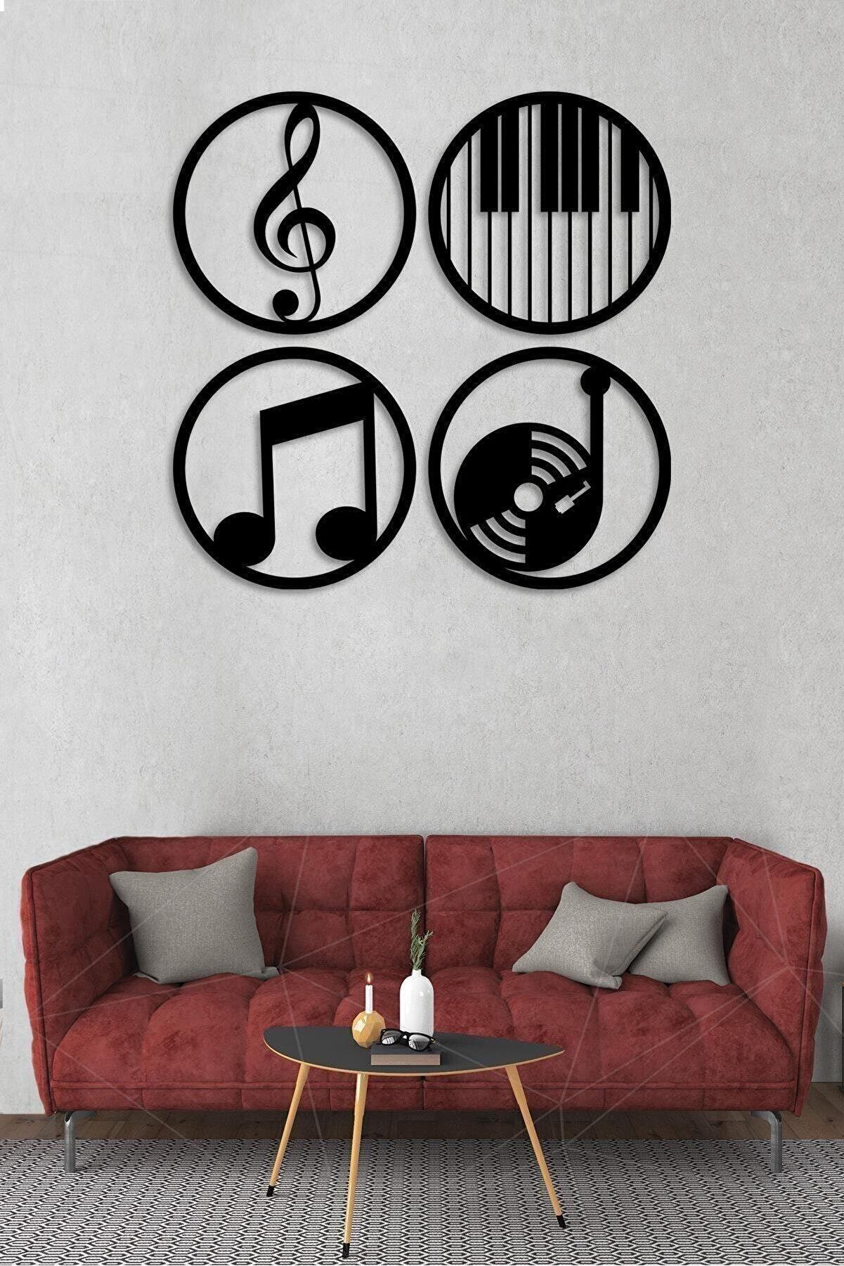 Alfanua Müzik Nota Ahşap Mdf Dekoratif Tablo - Müzik Temalı Duvar Dekoru