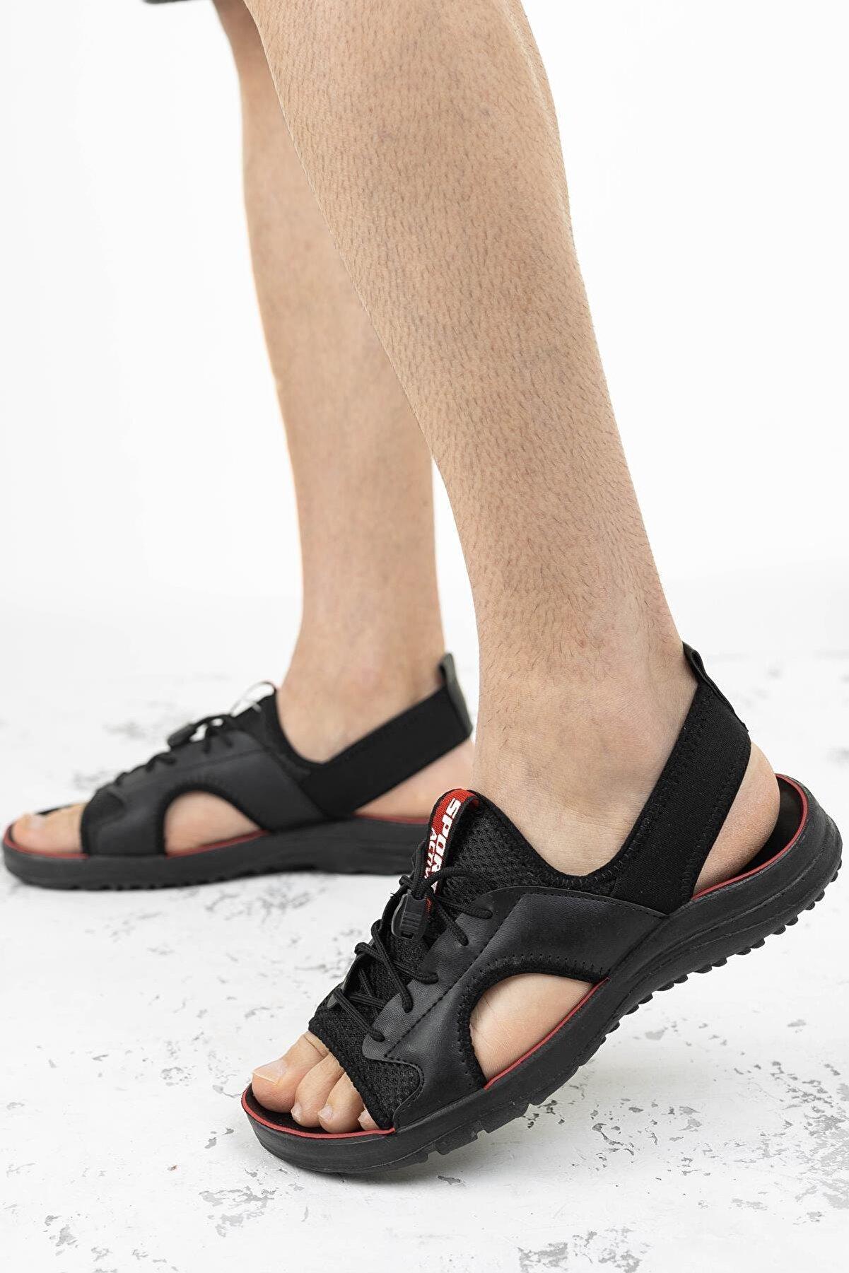 Moda Frato Erkek Sandalet Cırtlı Yazlık Ayakkabı Gz-11052