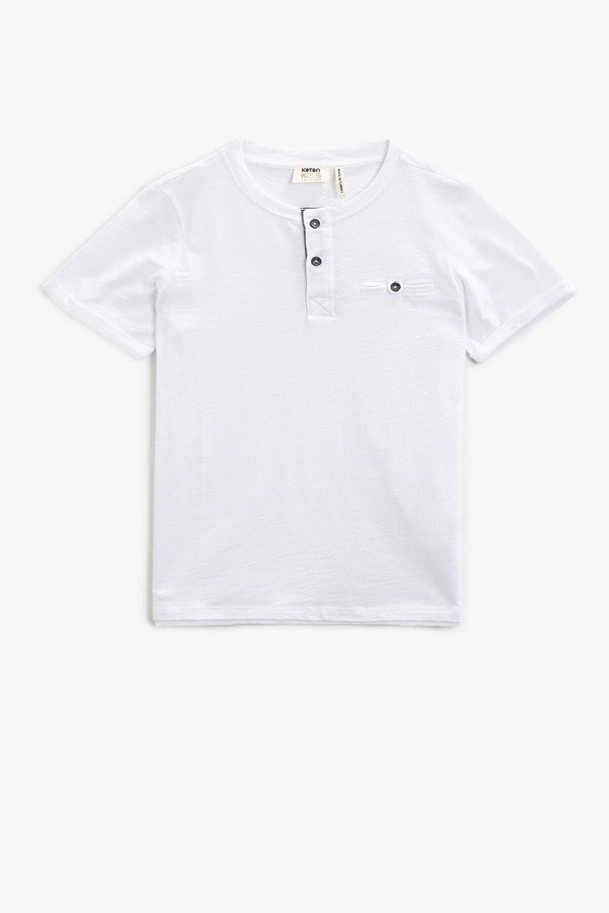 Koton Erkek Çocuk Beyaz T-Shirt 1YKB18504OK