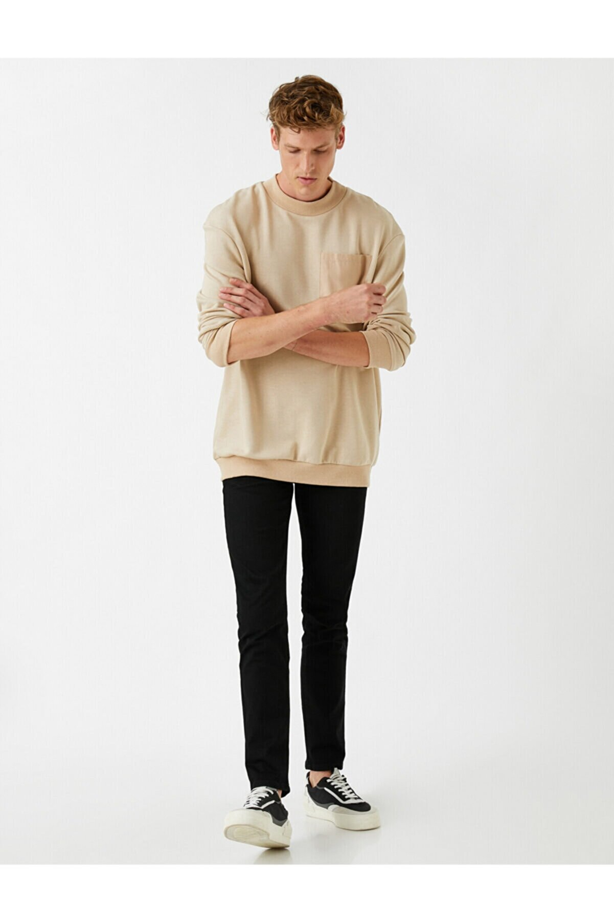 Koton Erkek Siyah Brad Slim Fit Jean Pantolon