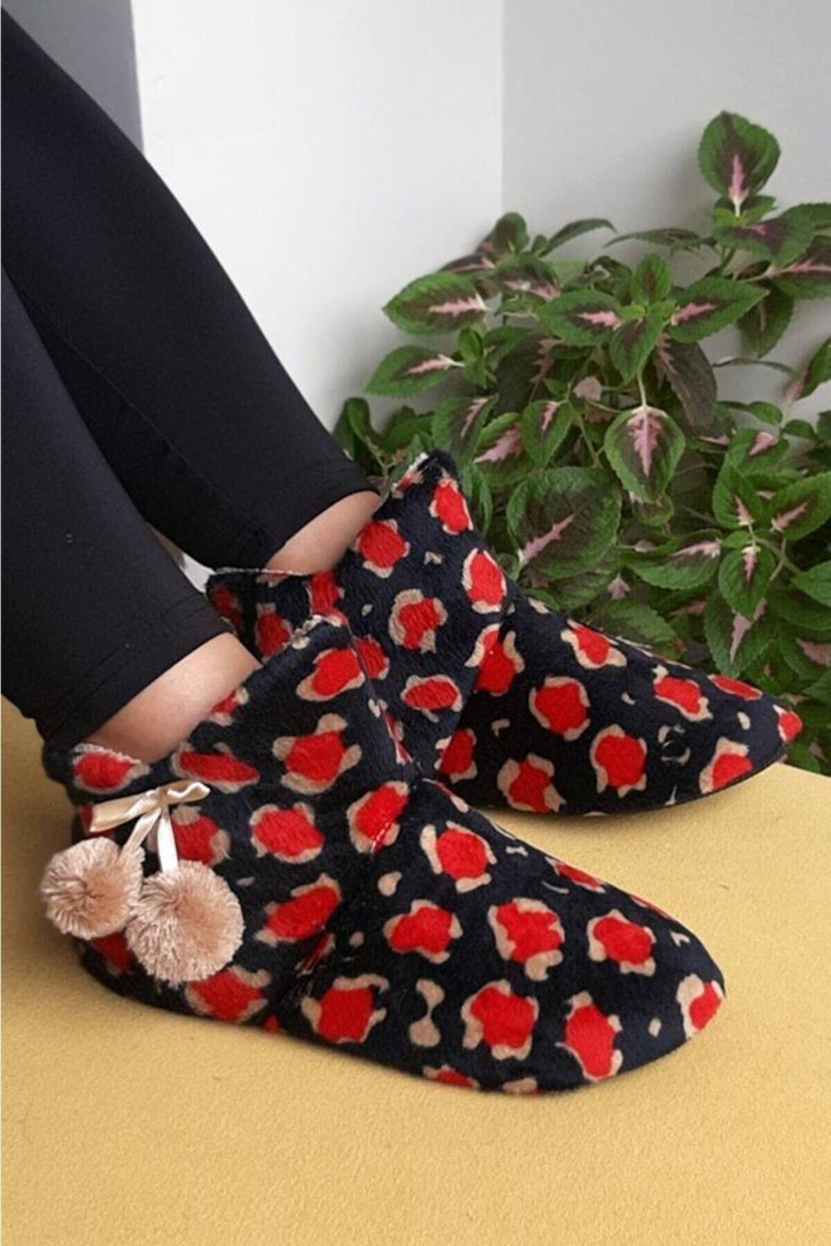 Moda Frato Uc-alaca Kadın Panduf Ev Ayakkabısı Ev Botu